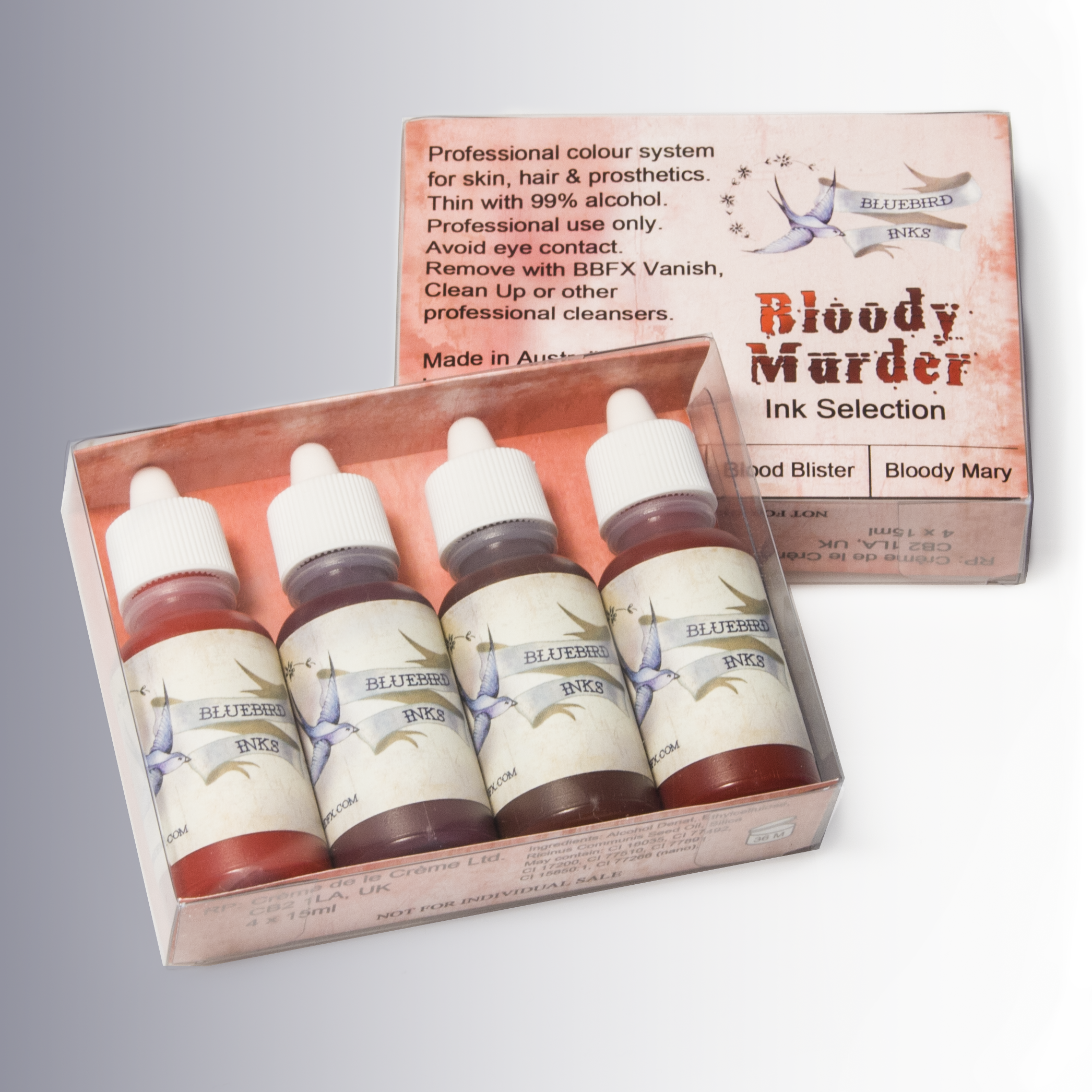 go to Bloody Murder colour chart