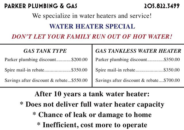 How is your home's water heater? Our water heater special is still going, so now is a great time to have us check your water heater for proper operation! #plumbing #waterheaterspecial #naturalgas #rheem #rinnai #weloveourjob