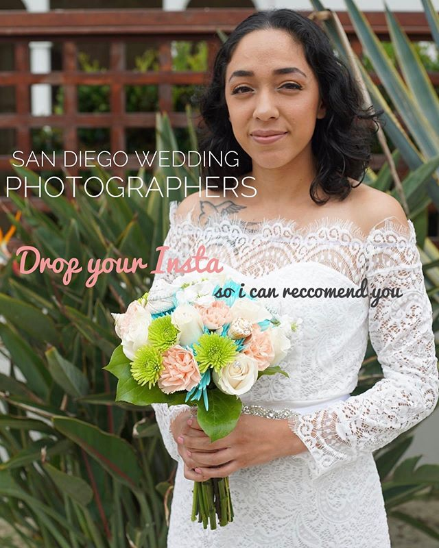 Looking for some gems ! San Diego based Wedding Photographers & Photography Freelancers, drop your info below so i can refer you to my clients. . . . . . i'm no photographer but here is a photo I took of my sister in law for her sacred union. photography is no joke, I'll be sticking to video. . xoxo  #sandiegoweddingphotography #sandiegoweddingphotographers #sandiegoweddingplanning #theknotpro #photographervideocollabs #creativesinsandiego #sandiegoweddings #beachwedding #lajollawedding #bride