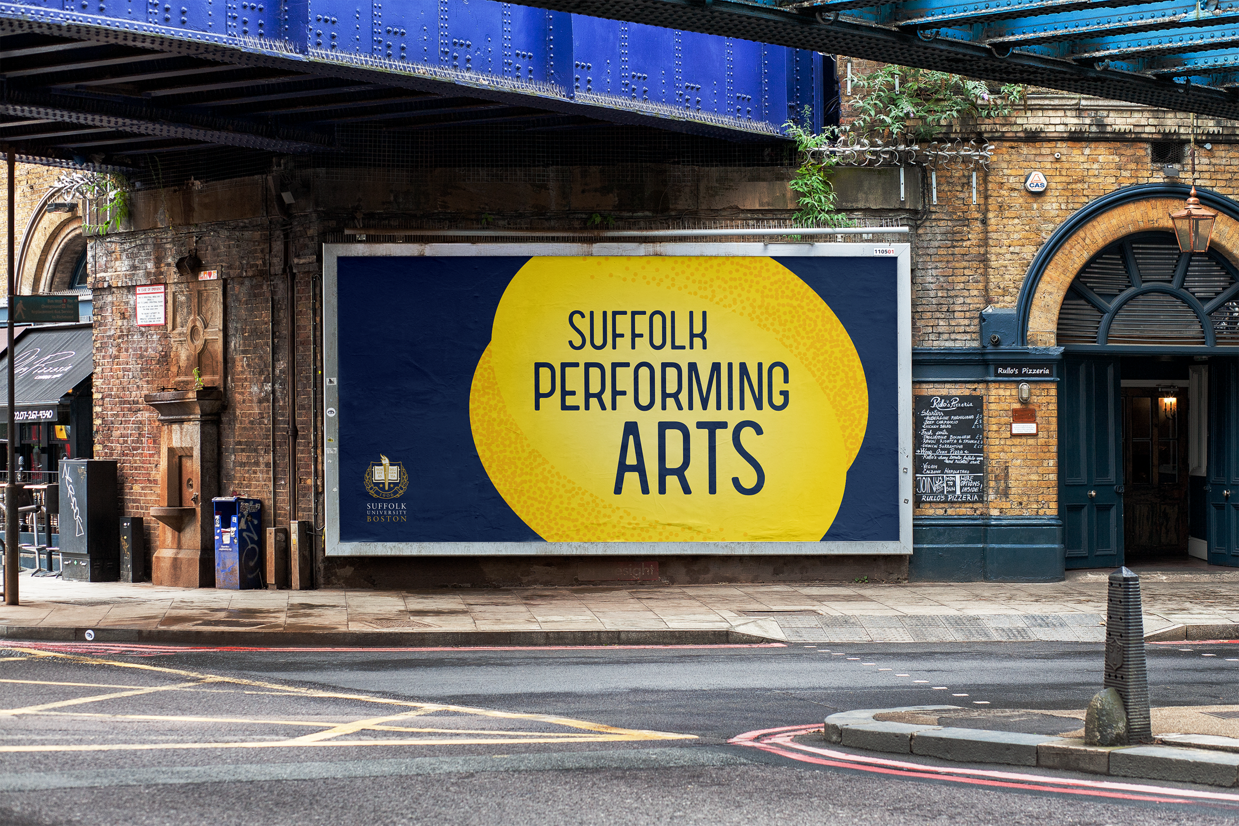 Suffolk University - The Suffolk University Performing Arts Office needed an identity that would unify the diverse performing arts groups and events that they support and produce throughout the city of Boston.