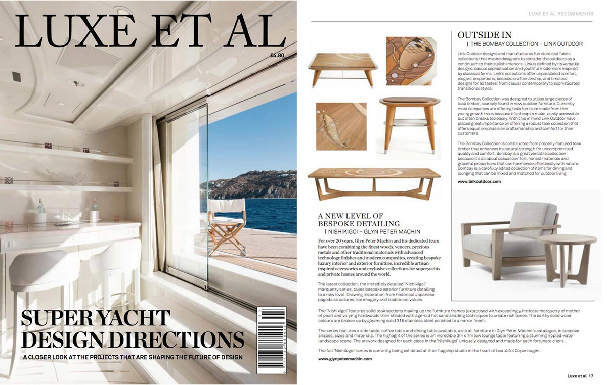 Luxe Et Al  2018, featuring the  Bombay Lounge Chair  and  Bombay Side Table