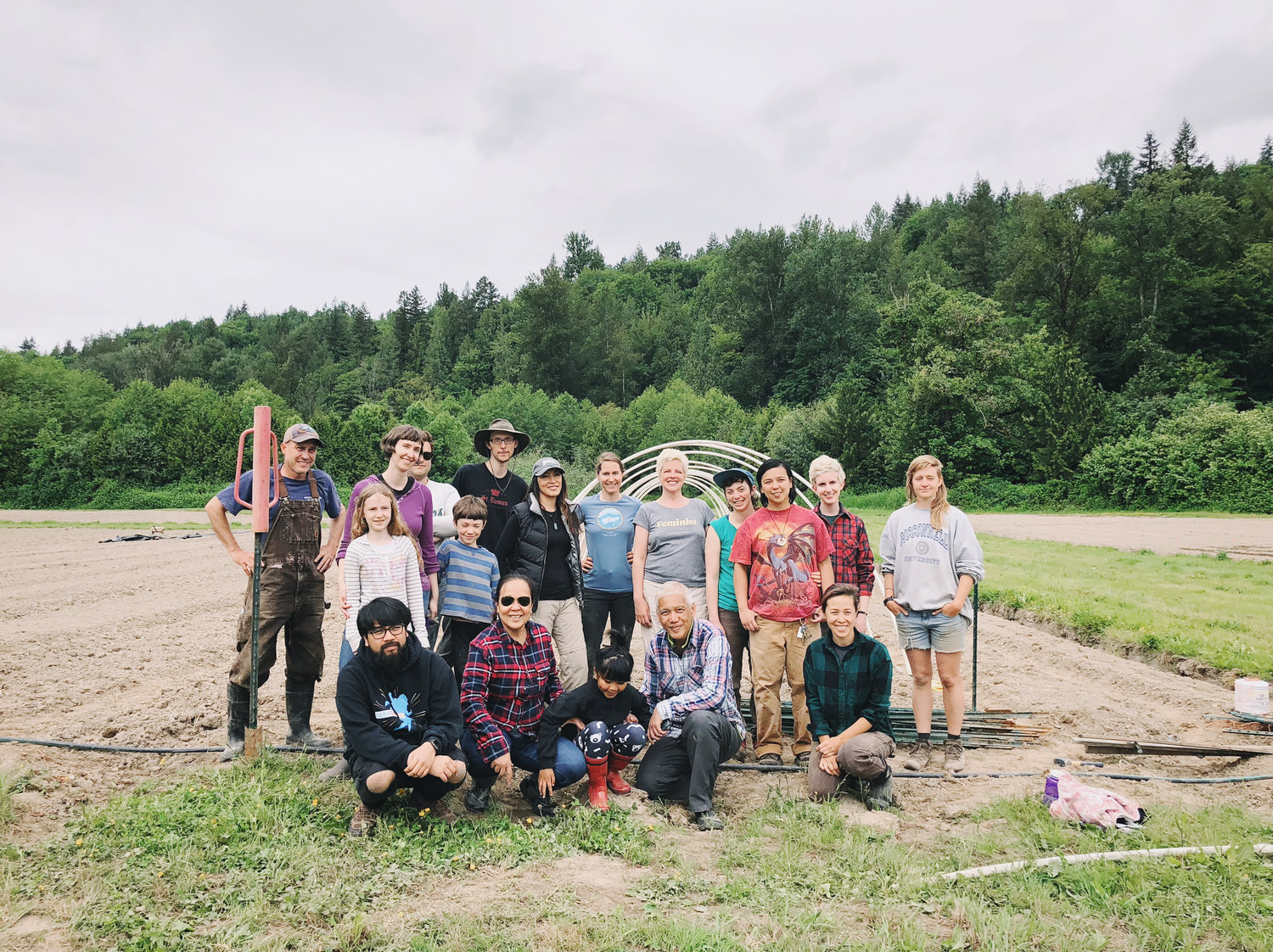 "Community Alliance for Global Justice's ""Teach Out"" at Kamayan Farm  Photo Credit: Heather Day, May 2018"