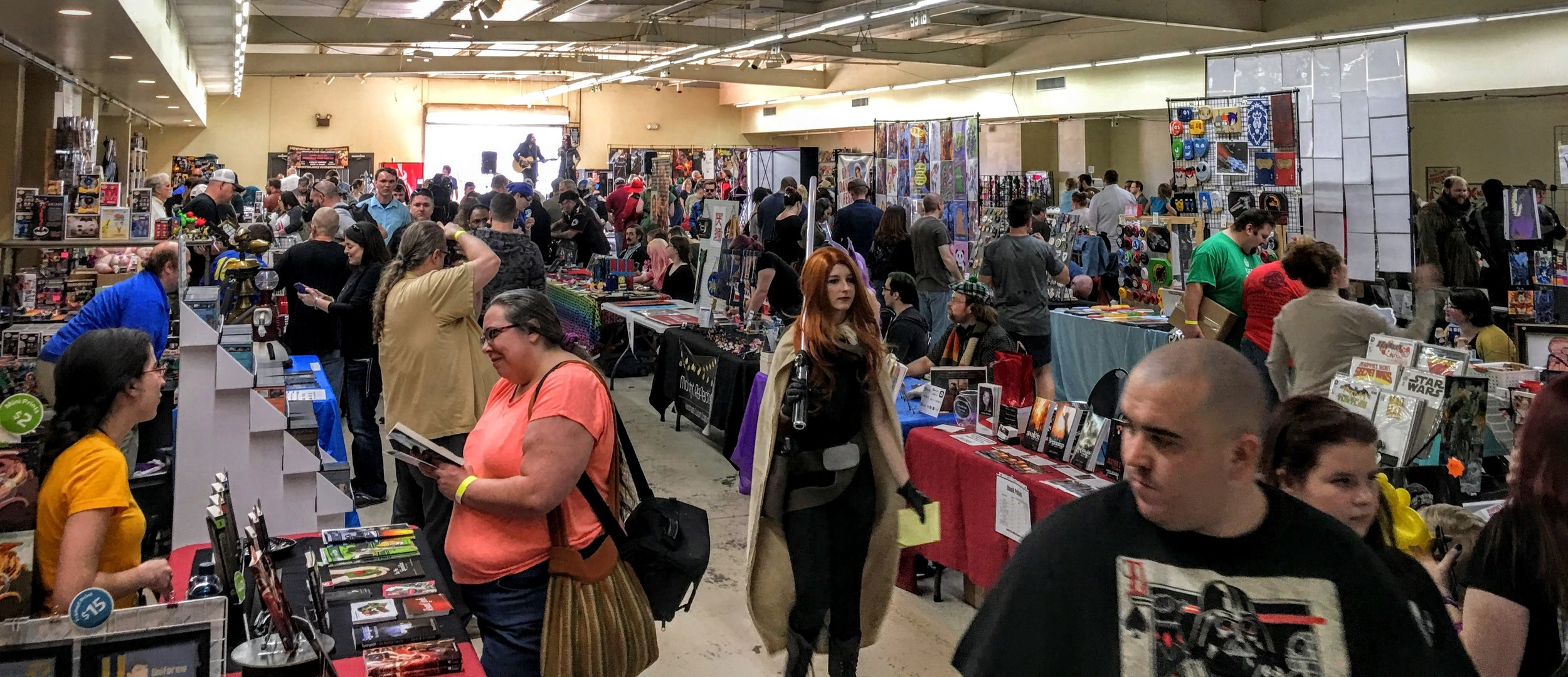 A great shot of the show floor!