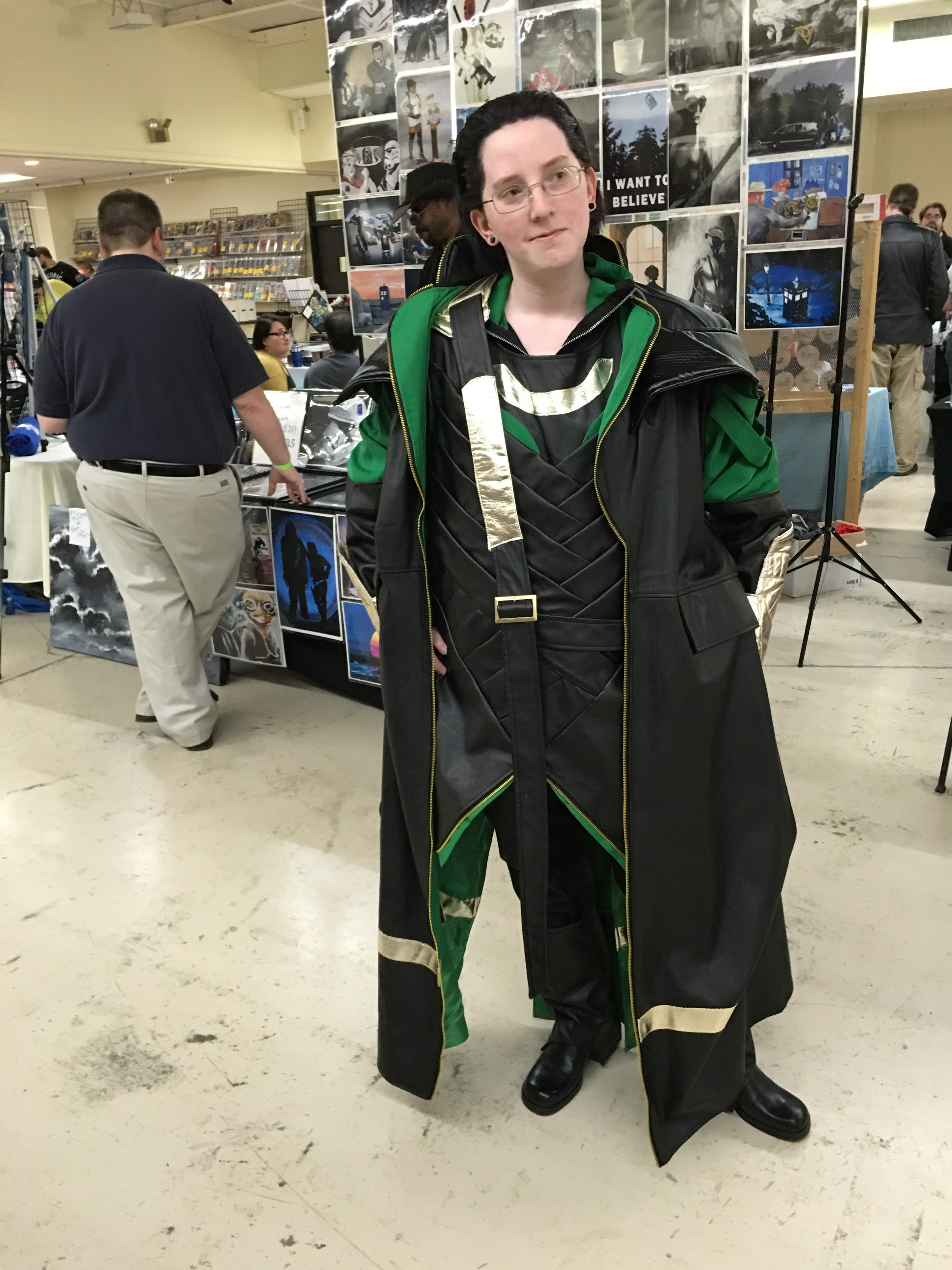 We spotted a Loki cosplayer, but couldn't figure out what mischief she had planned...