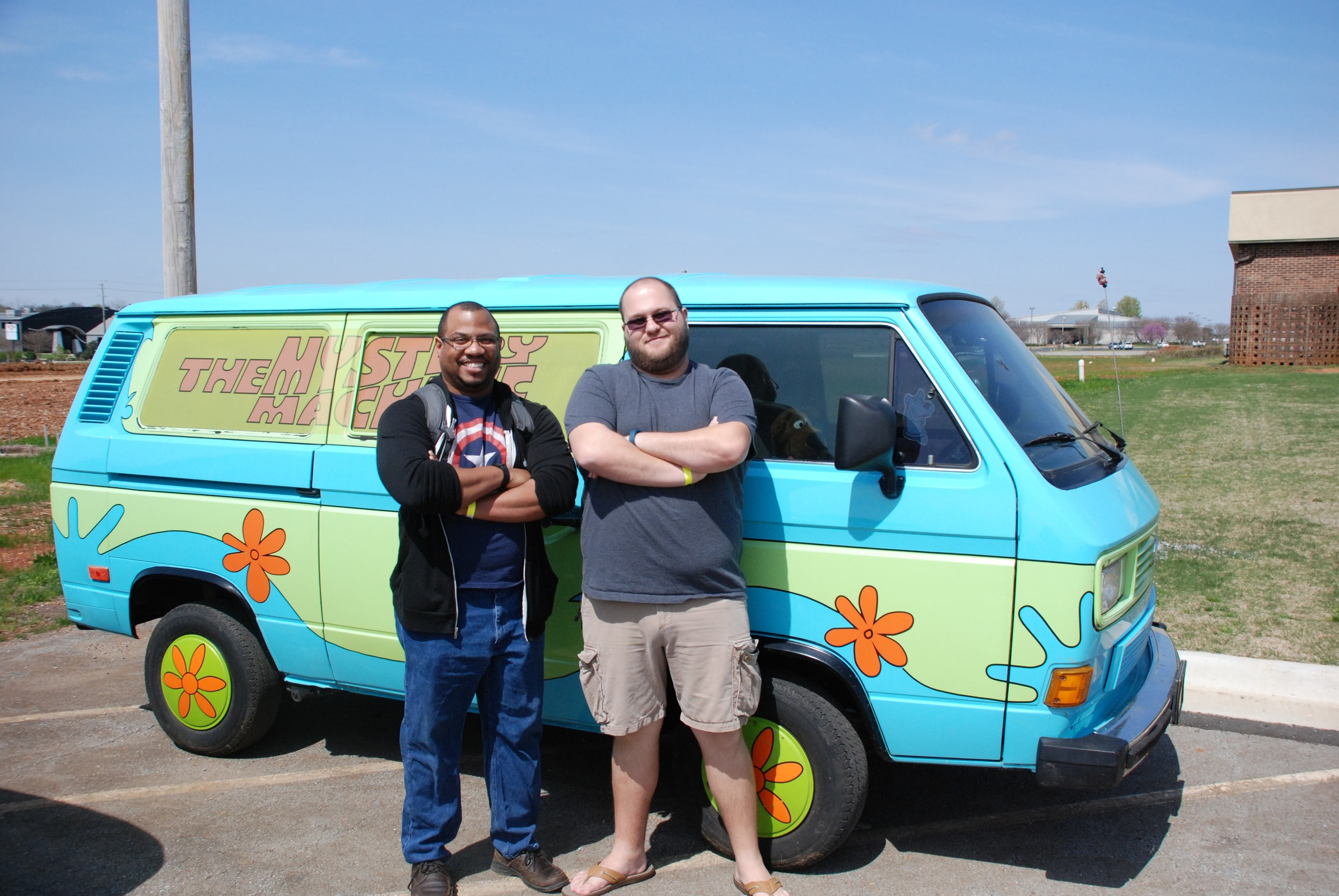 Cameron and Will check out the Mystery Machine! Too bad they couldn't test drive it...