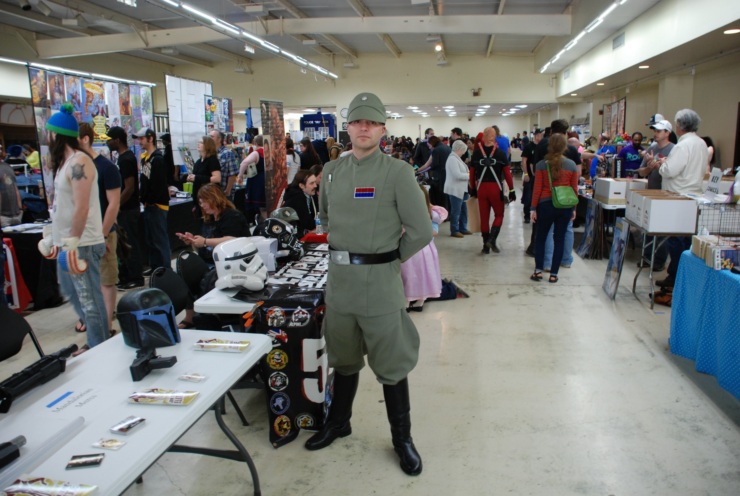 An Imperial Officer verifying that everything is running smoothly