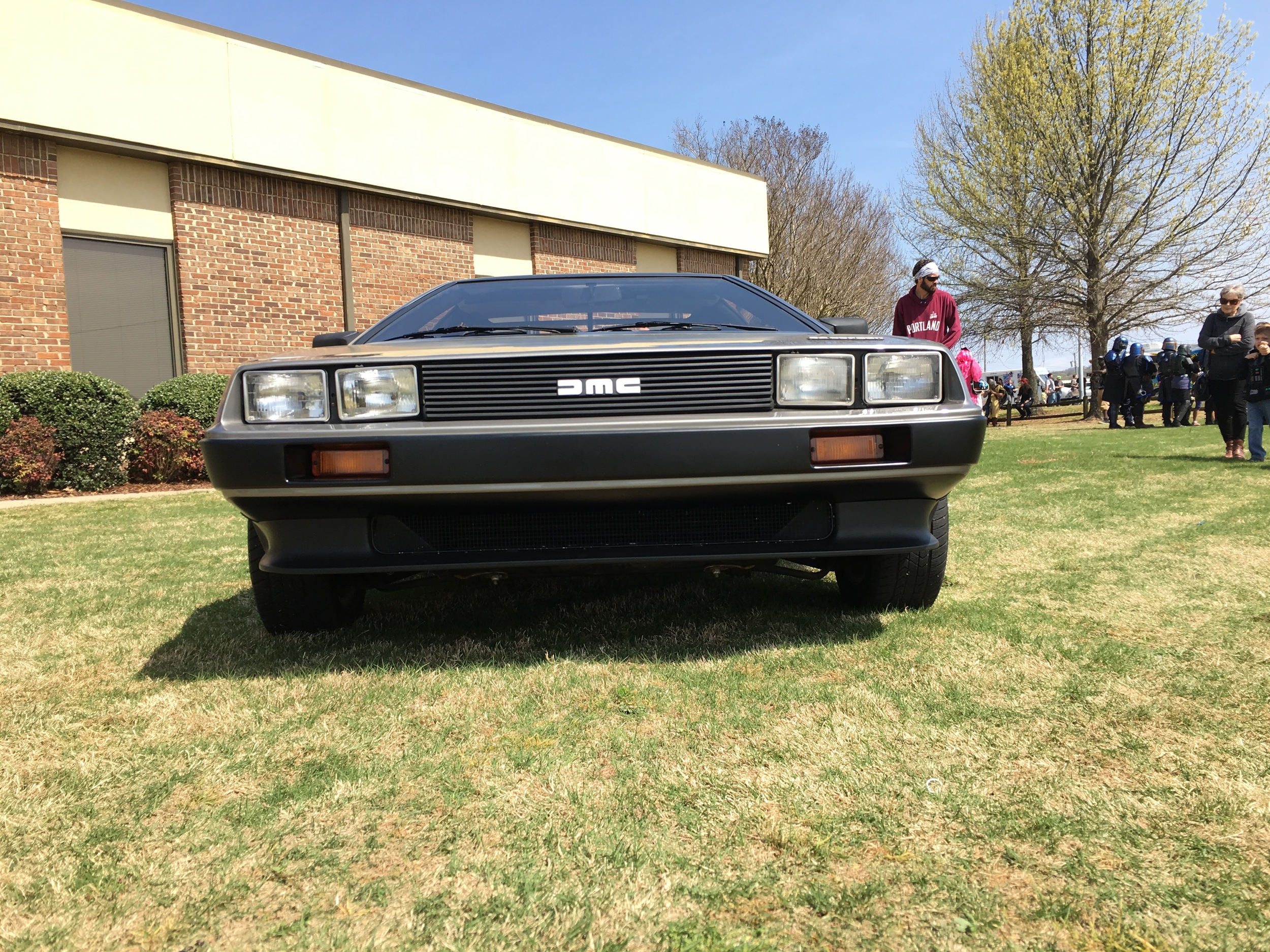 We almost ran outta time to check out this nice DeLorean!