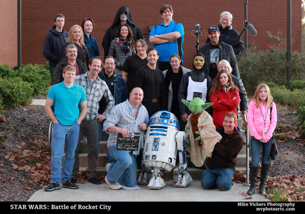 Some of the Cast and Crew for Star Wars: Battle of Rocket City