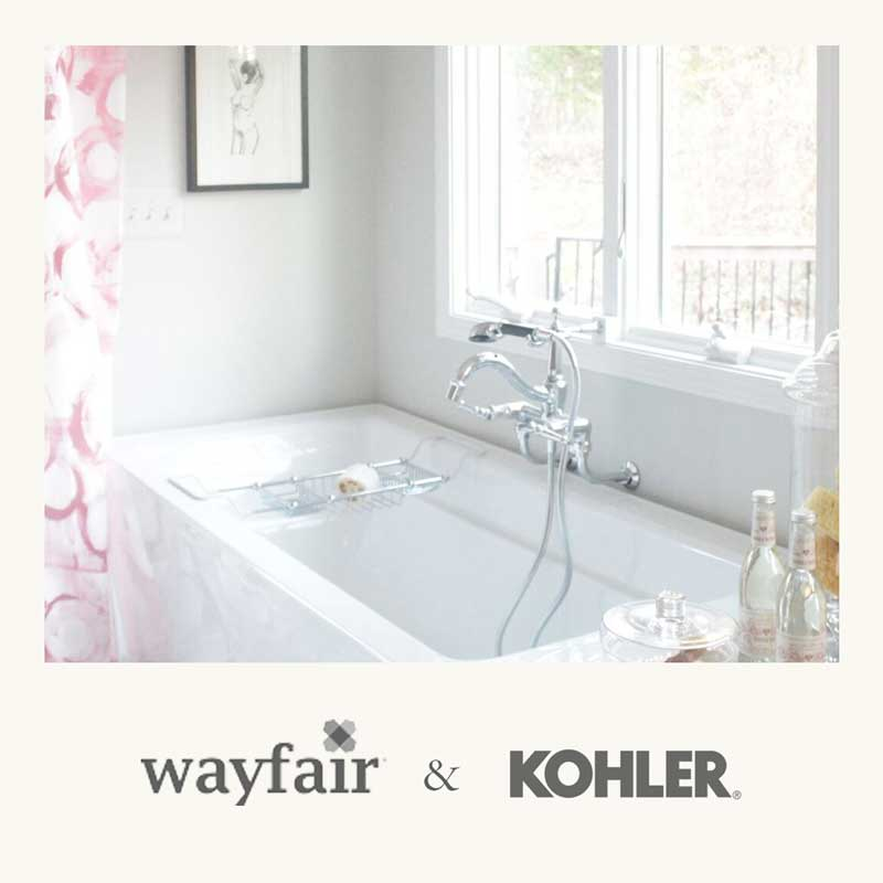 kohler & wayfair bathroom remodel