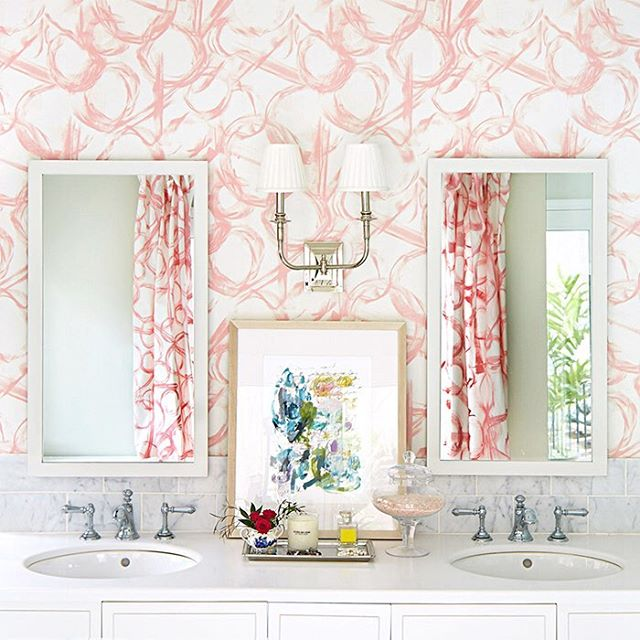 We can't wait to see what the talented team at @kate.h.design has in store for our blush brushstroke wallpaper! Our papers are also available in custom colors, what color would you like to see next? #wallpaperwednesday 📷 @adamalbright