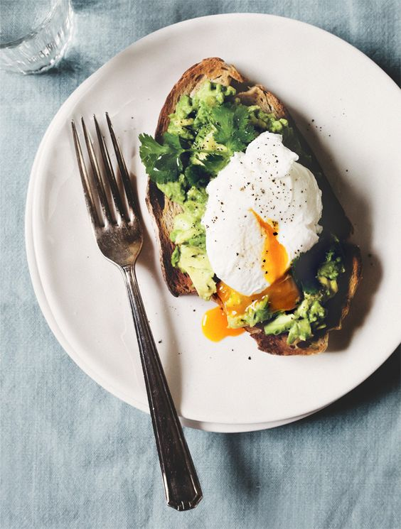 SMASHED AVO + POACHED EGGS