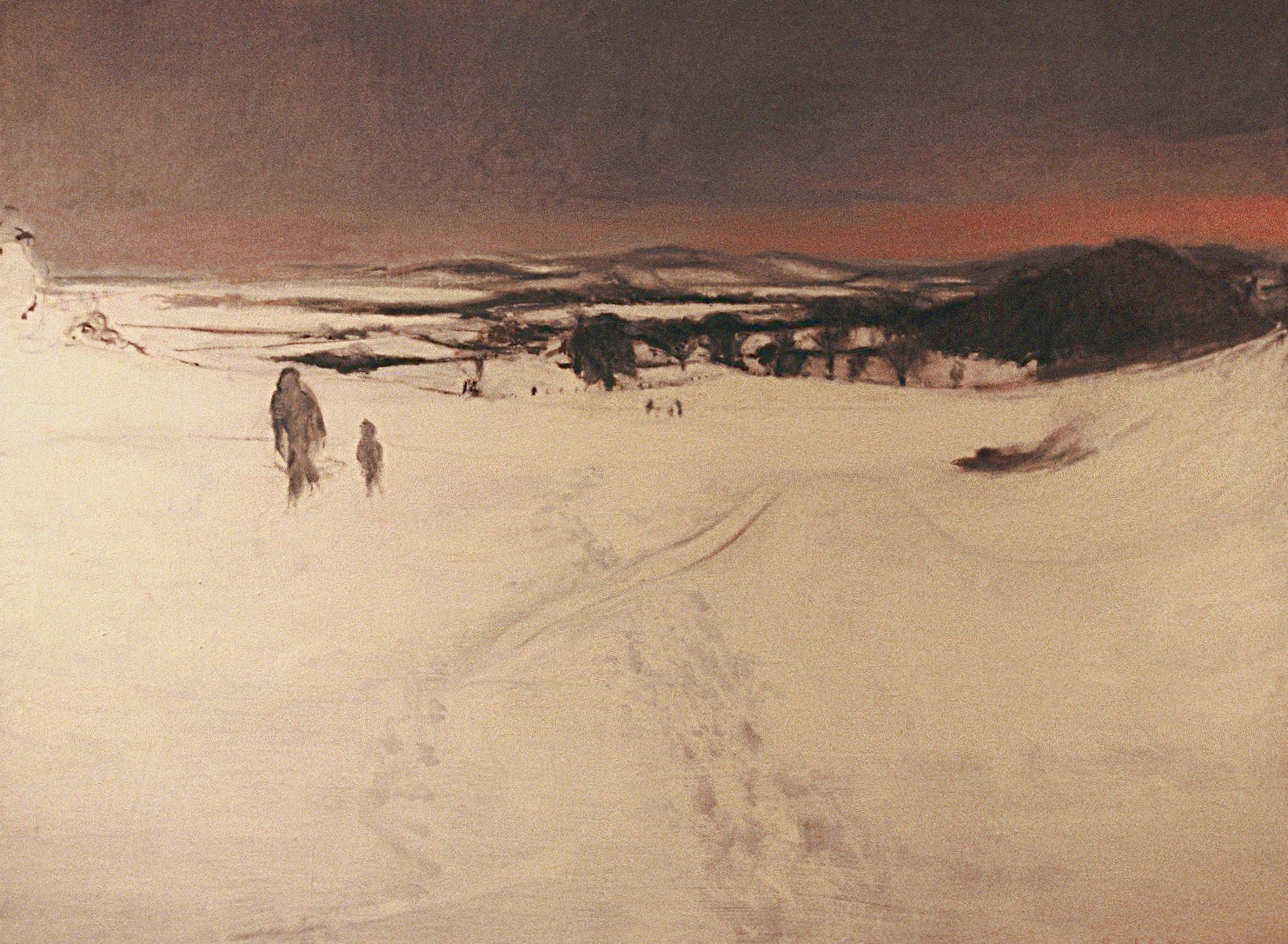Tracks in Snow, 98 x 120 cm, oil on linen, Private Collection