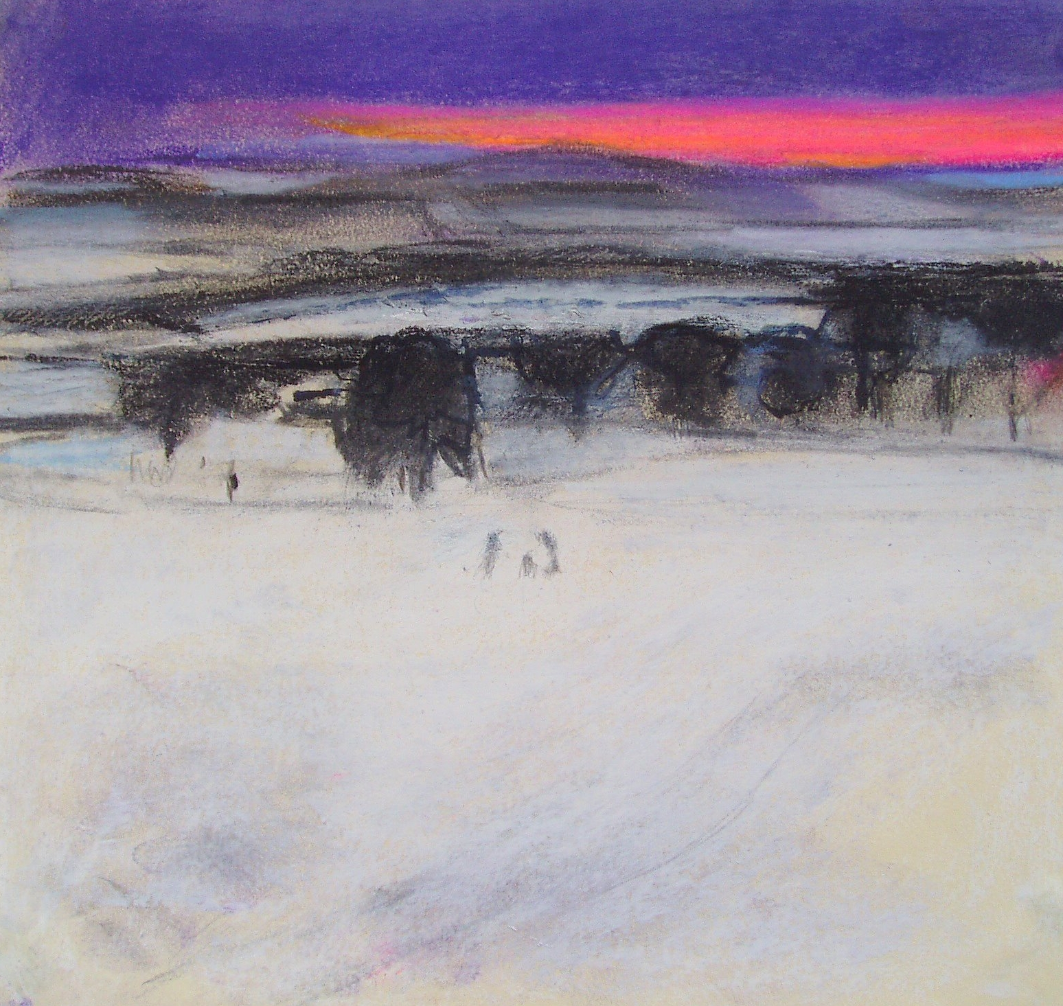 Tracks in Snow, Herefordshire, private collection