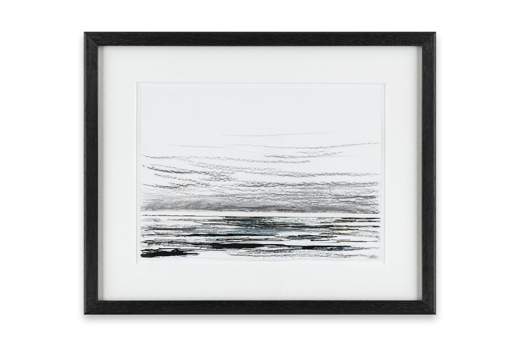 5 Low Tide, Time and Tide series, 15 x 21 cm, ink and charcoal on paper