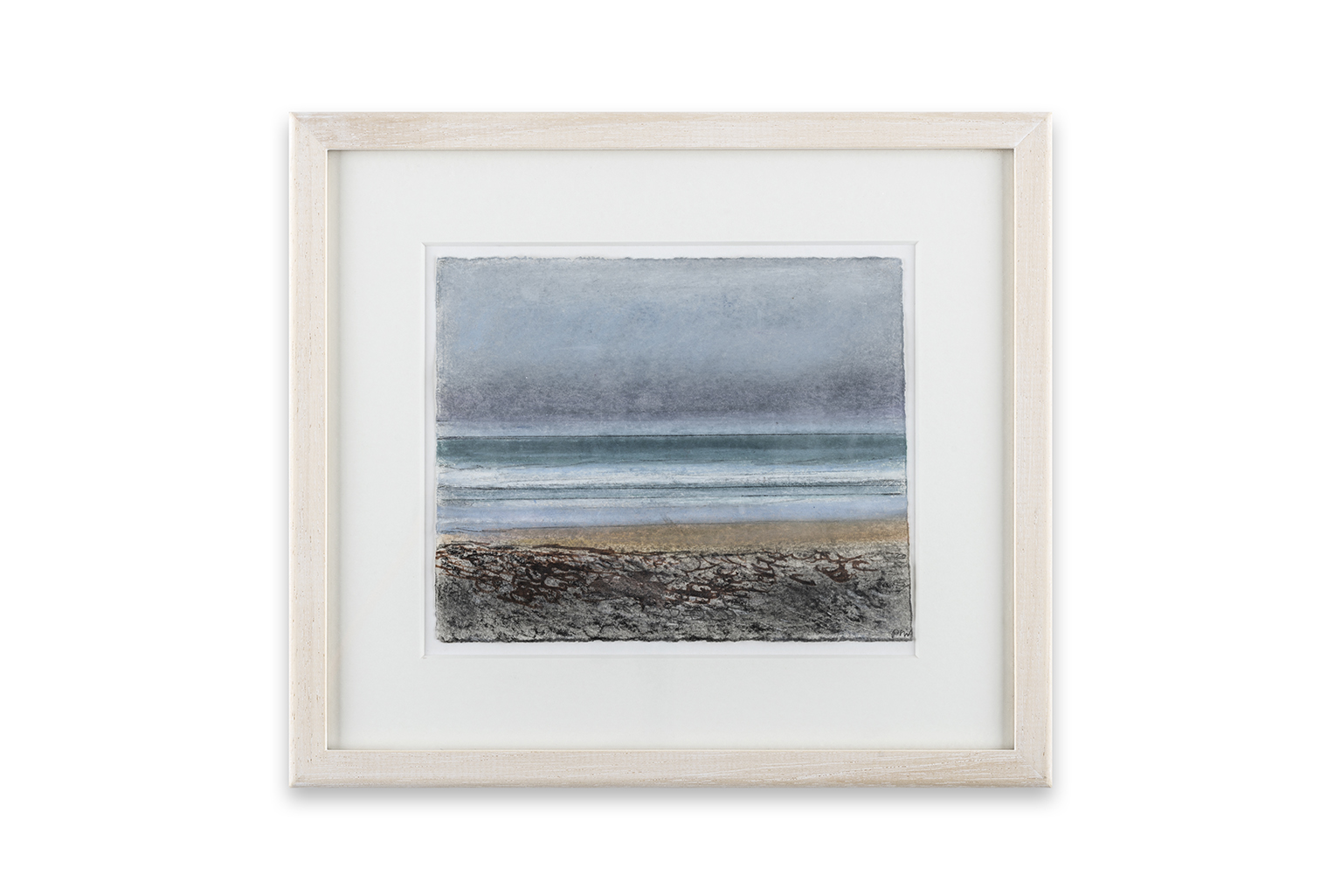 60 Winter on the Beach, 9 x 15 cm, pastel and mixed media on paper