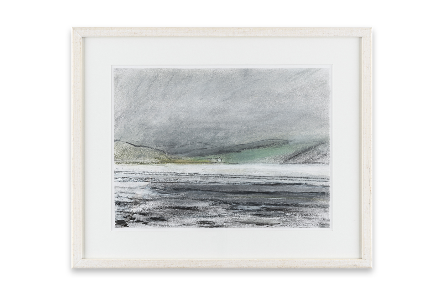 Across the Bay, 21 x 30 cm, pastel and mixed media on paper