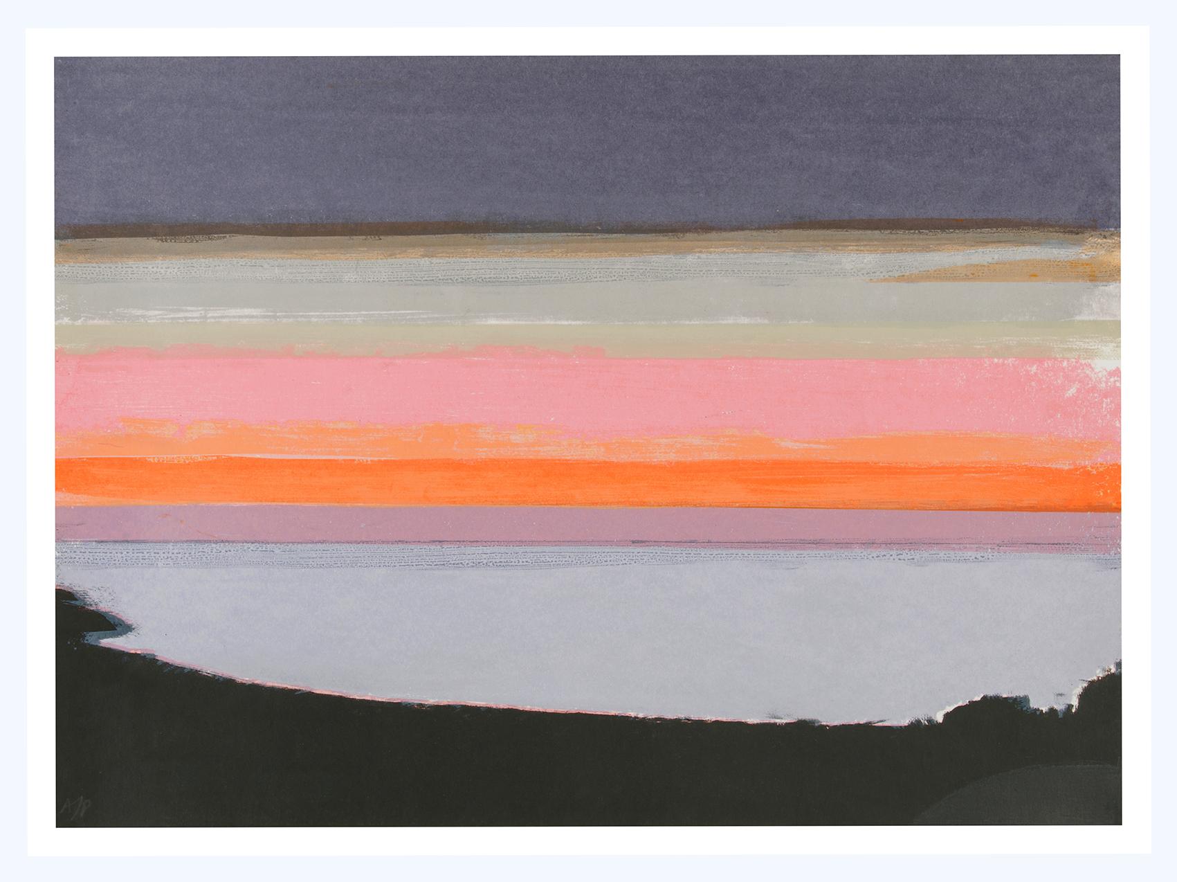 19 Silver Sea, 38x52cm, screen print, ed of 5