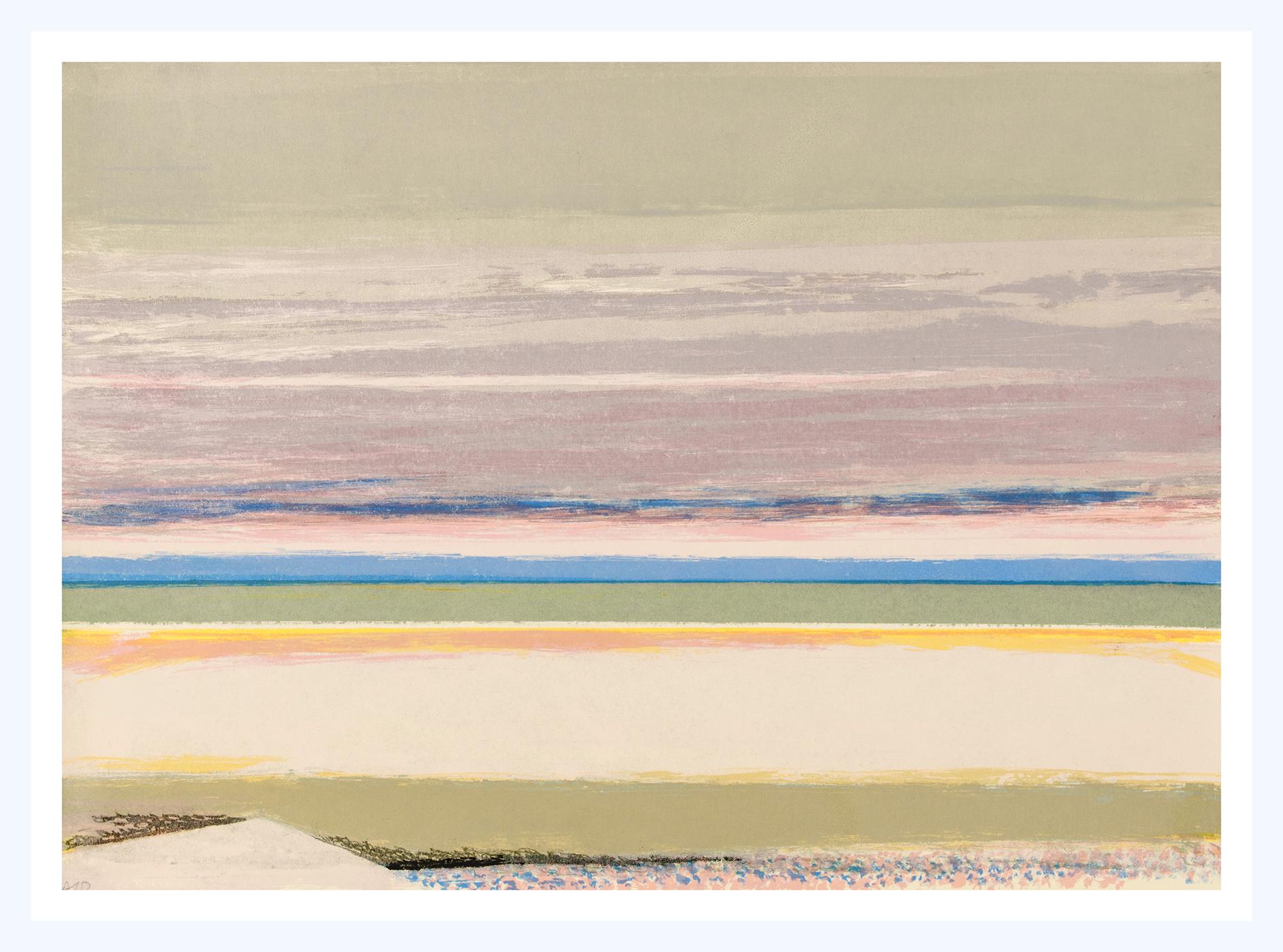 18 Shoreline, 38x52cm, screen print, ed of 5