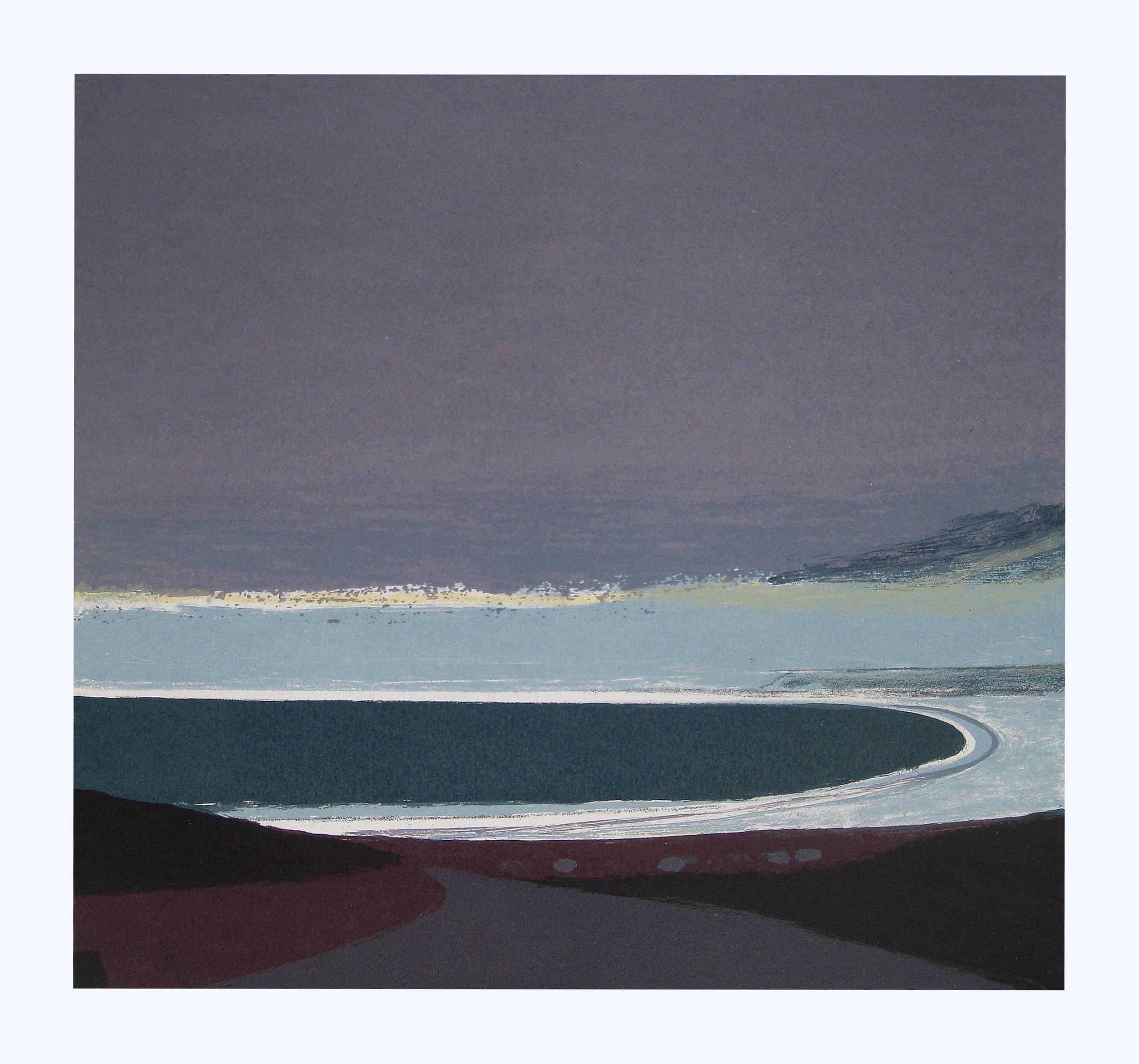 25 Slate grey Seascape, 52x55cm, screen print, ed of 20