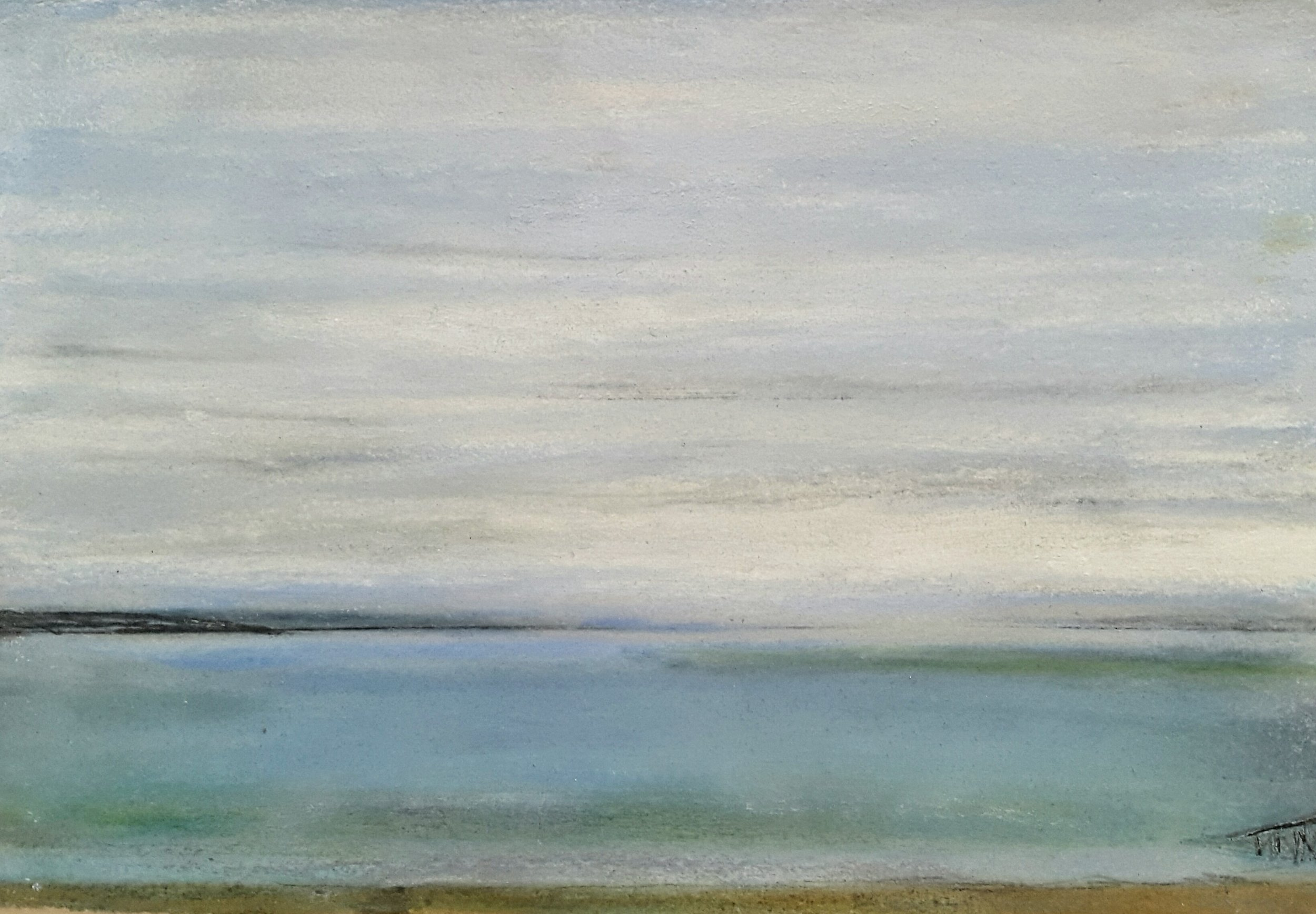 27 Winter Sea, 15x21cm, pastel and mixed media on paper