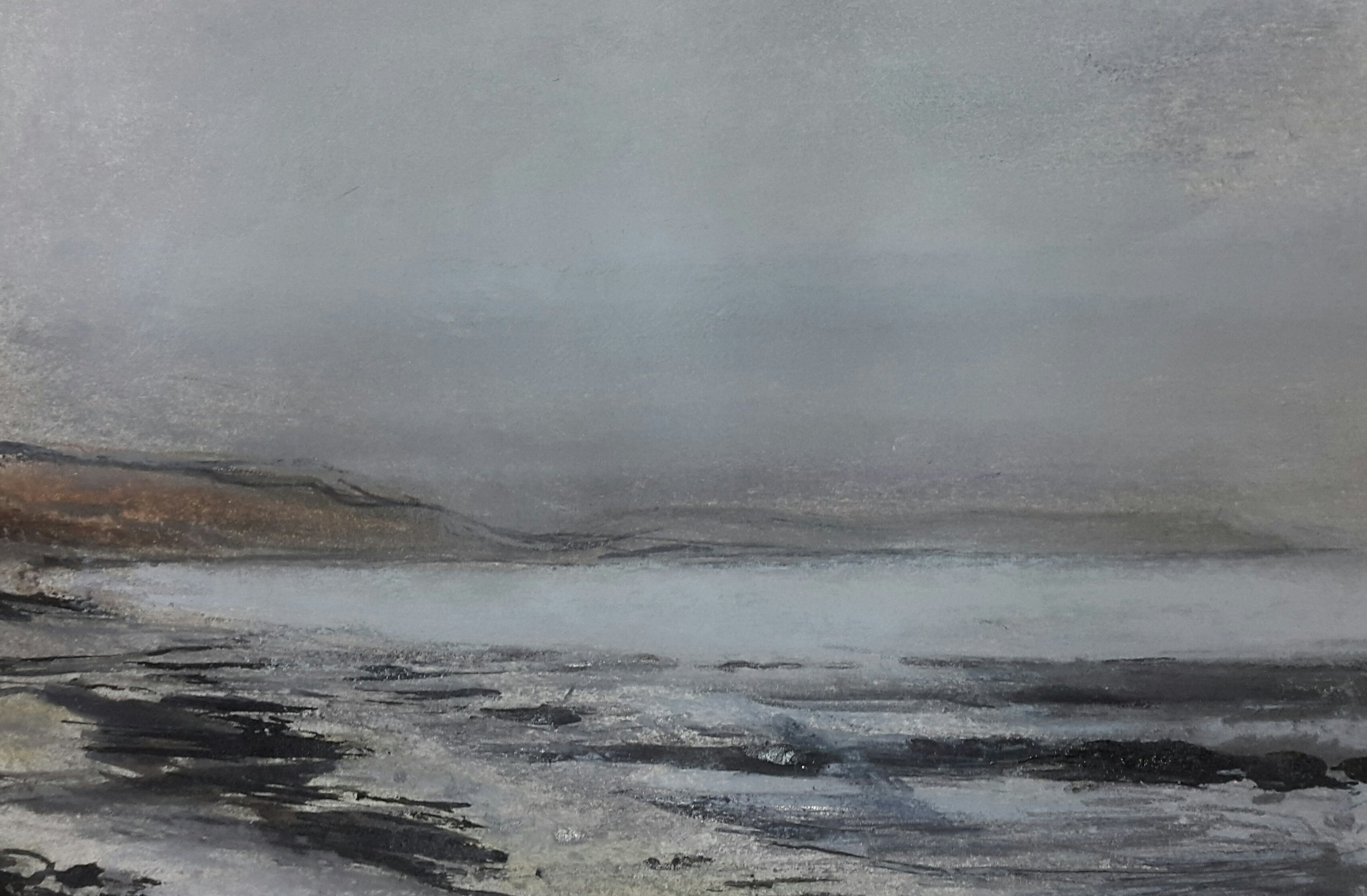 62 Winter Sea Mist, 12x17cm, pastel and mixed media on paper