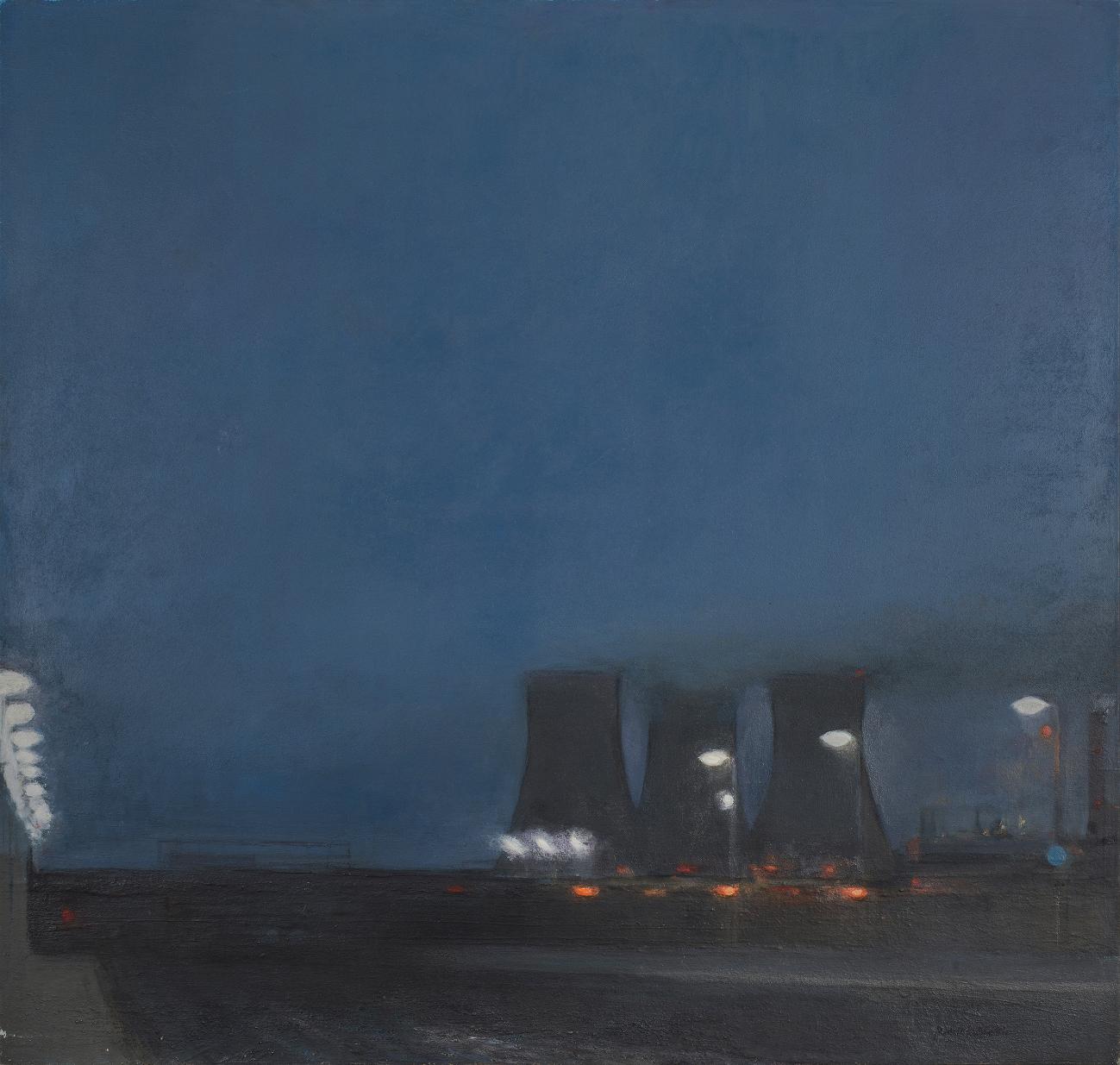 44 Electric Dusk, Twilight of an Era, 92x98cm, oil on linen