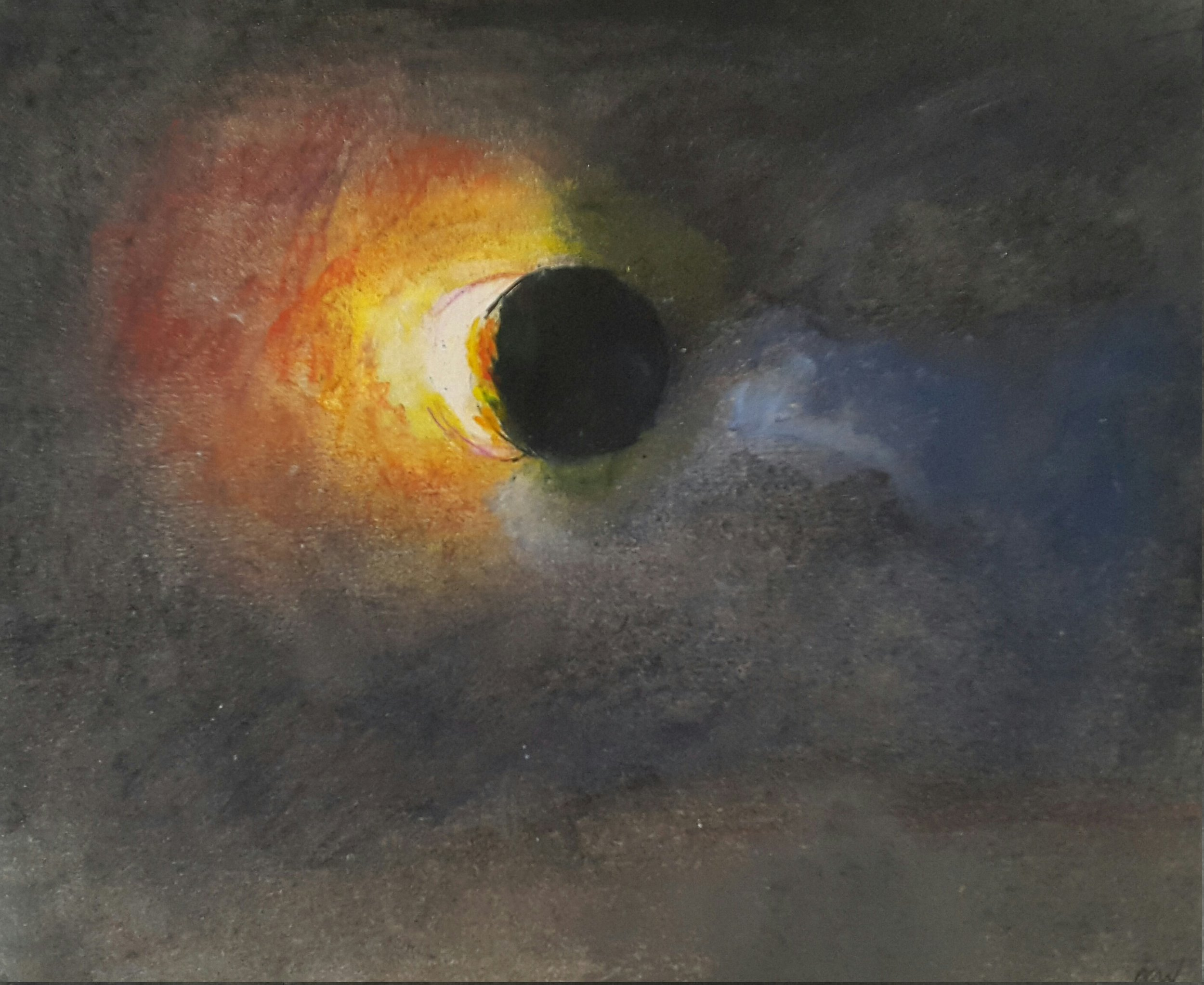 63 Eclipse, 14x15cm, water colour and mixed media on paper