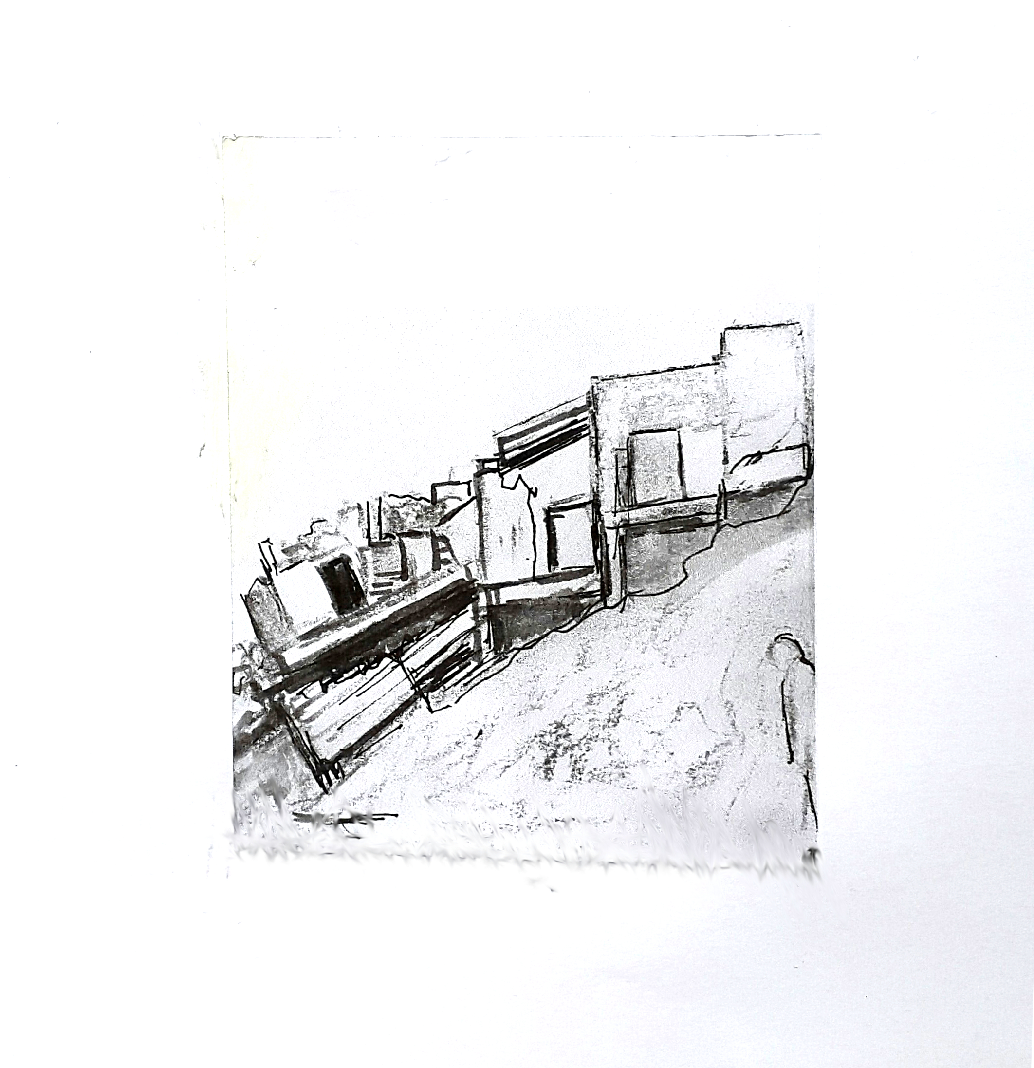 55 Aftermath 5, 10 x 12 cm, ink and charcoal on paper