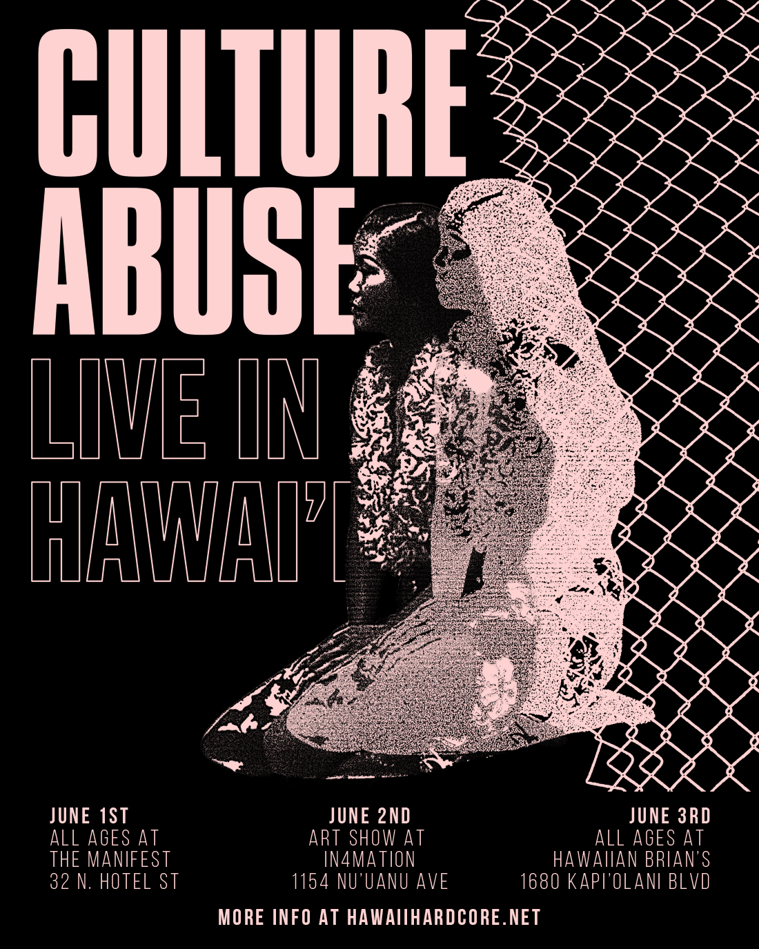June 3rd at The Studio in Hawaiian Brian's   w/, TBA, Out of Bounds, and Earl Grey.  1680 Kapiolani Blvd.  Doors 730 Music 8-11pm  $10 ALL AGES.   Facebook Event Page.