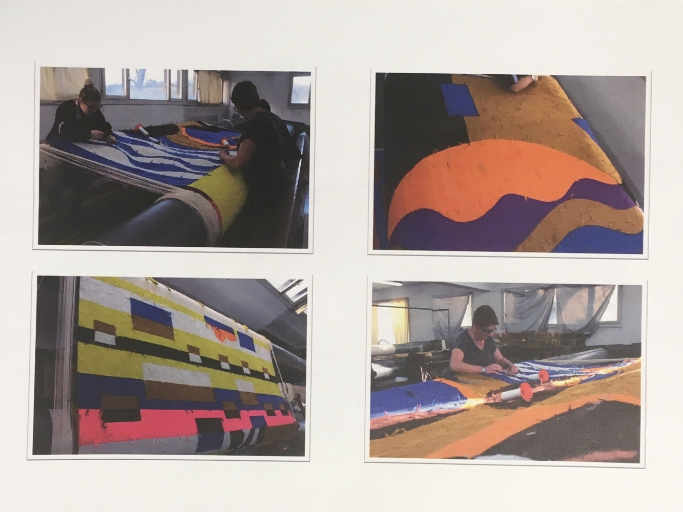 Atelier Pinton working on the Rio Azul tapestry -photos shared by Atelier Pinto at the White Cube breakfast event- Photo:Geraldine Wharry