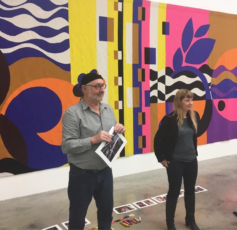 Atelier Pinton's master weavers Jacques Bourdeix and Saskia Vandamme - Photo:Geraldine Wharry