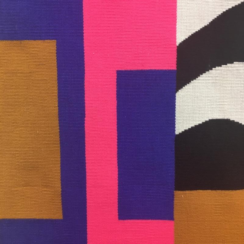 Close up of the Rioa azul tapestry- Photo:Geraldine Wharry