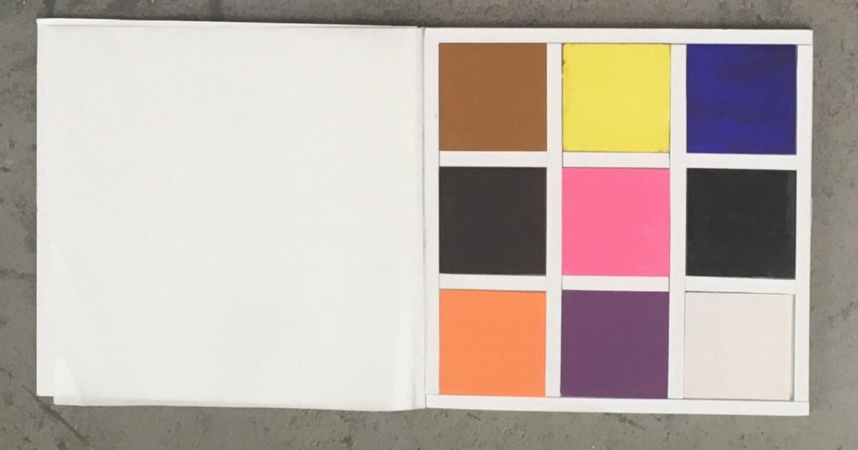Colour palette for the Rioa azul tapestry- Photo:Geraldine Wharry
