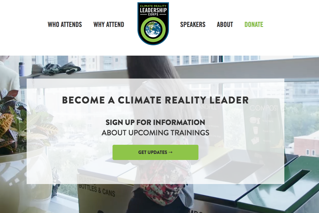 Climate reality leadership corps