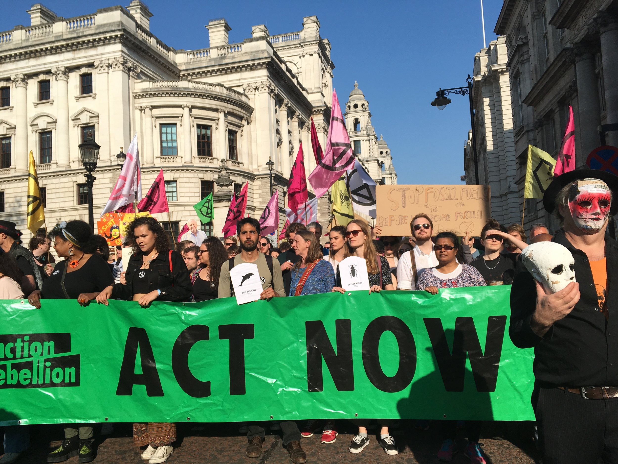 Extinction Rebellion Protests in London April 2019. Photo credit: Geraldine Wharry
