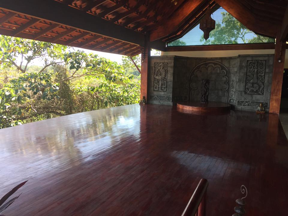 The lower yoga deck. Beautiful at night for sunsets and the sounds of the jungle.
