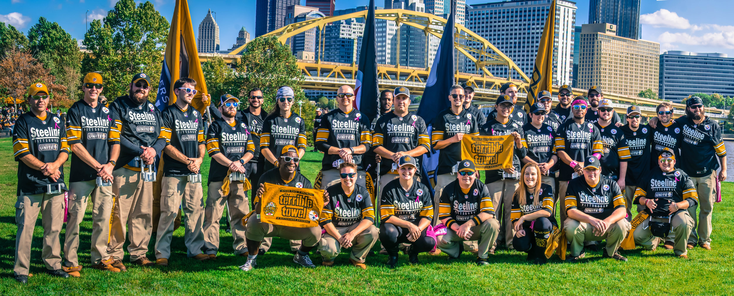 4 years later, and after 3 seasons working for the team, the full Steeline before a Steelers game on October 23rd, 2016 at Heinz Field.