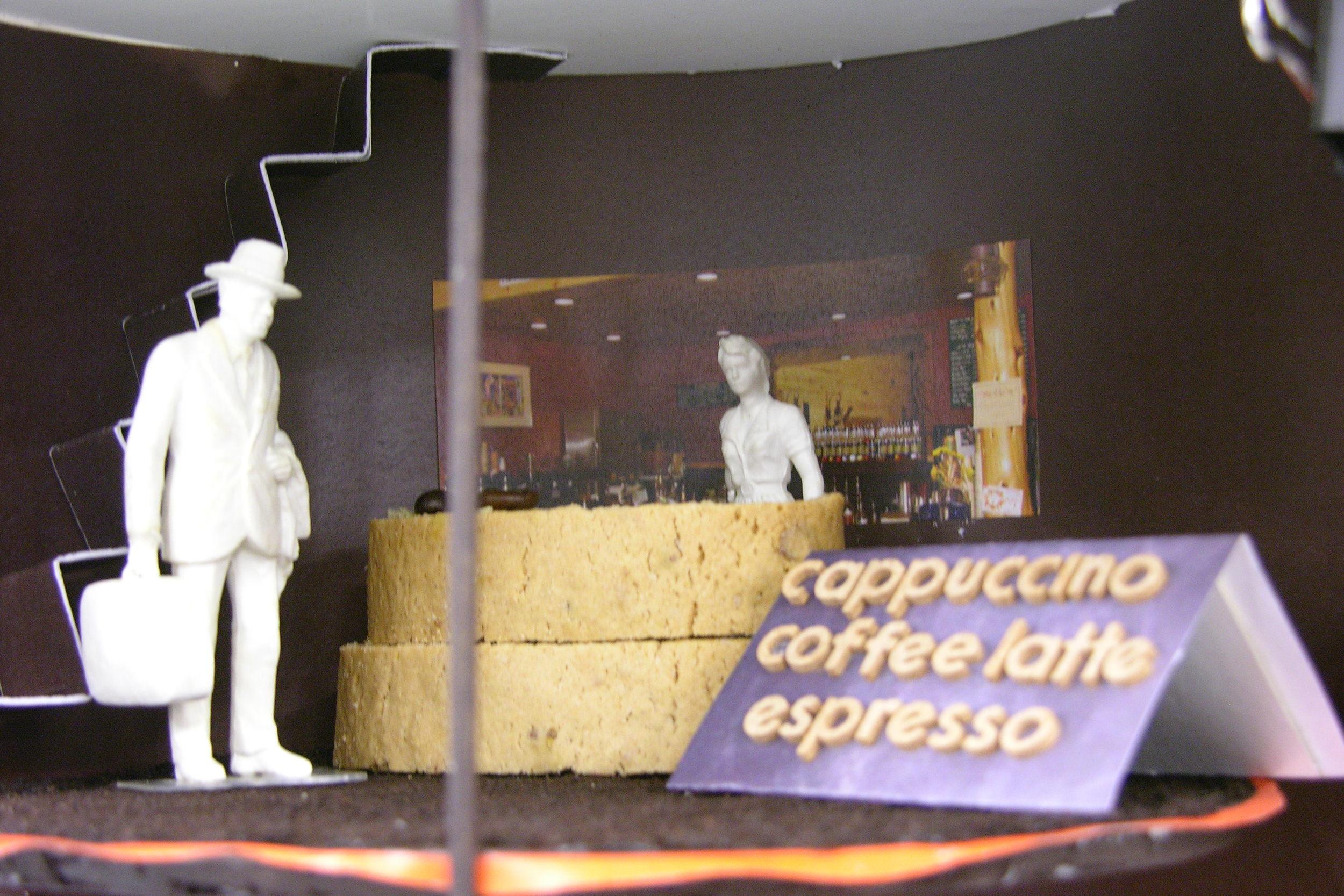 Coffee House Design (3D Model Close Up)