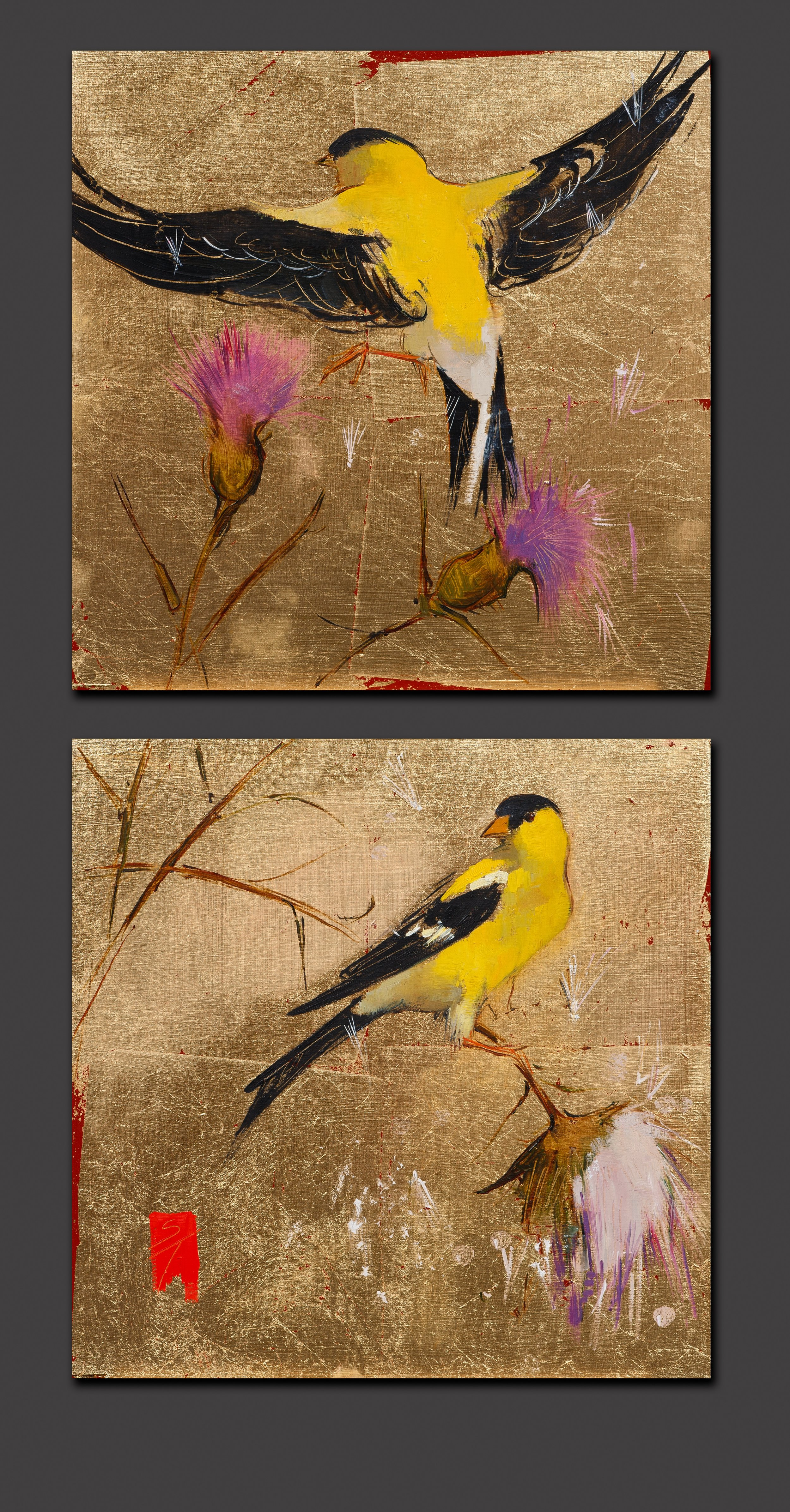 Goldfinch and Thistles