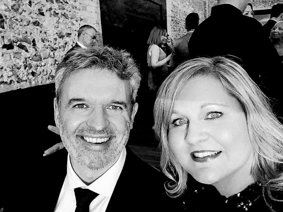 Us at the National Wedding awards this year - (iPhone selfie - hence the shadowing - but actually for two people that are better behind than in front of the camera - we don't scrub up too badly do we!! ha ha ha)