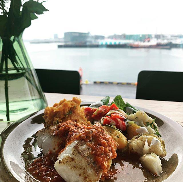 Þriðjudags matseðill😎frá 11:30-15 Opið 9-16 -Pönnusteiktur langa með paprikusósu -Hakkabuff m mjúkum lauk -Grænmetis súpa (v) -Spinat lasagna með pestó (v) -Fiskisúpa Bergsson RE -Calamares, dumplings og chilli sósu  Með réttunum er nýbakað súrdeigsbrauð, salat og girnileg rótargrænmetis salöt #restaurant #ferskurfiskur #kaffi #coffe