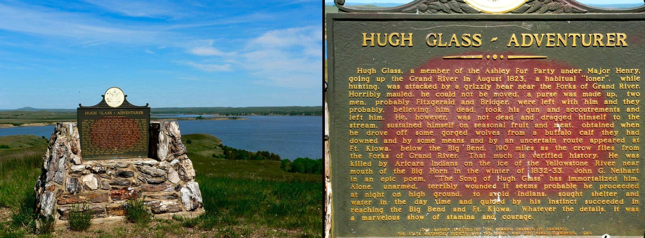 Hugh Glass memorial, near Lemmon, South Dakota