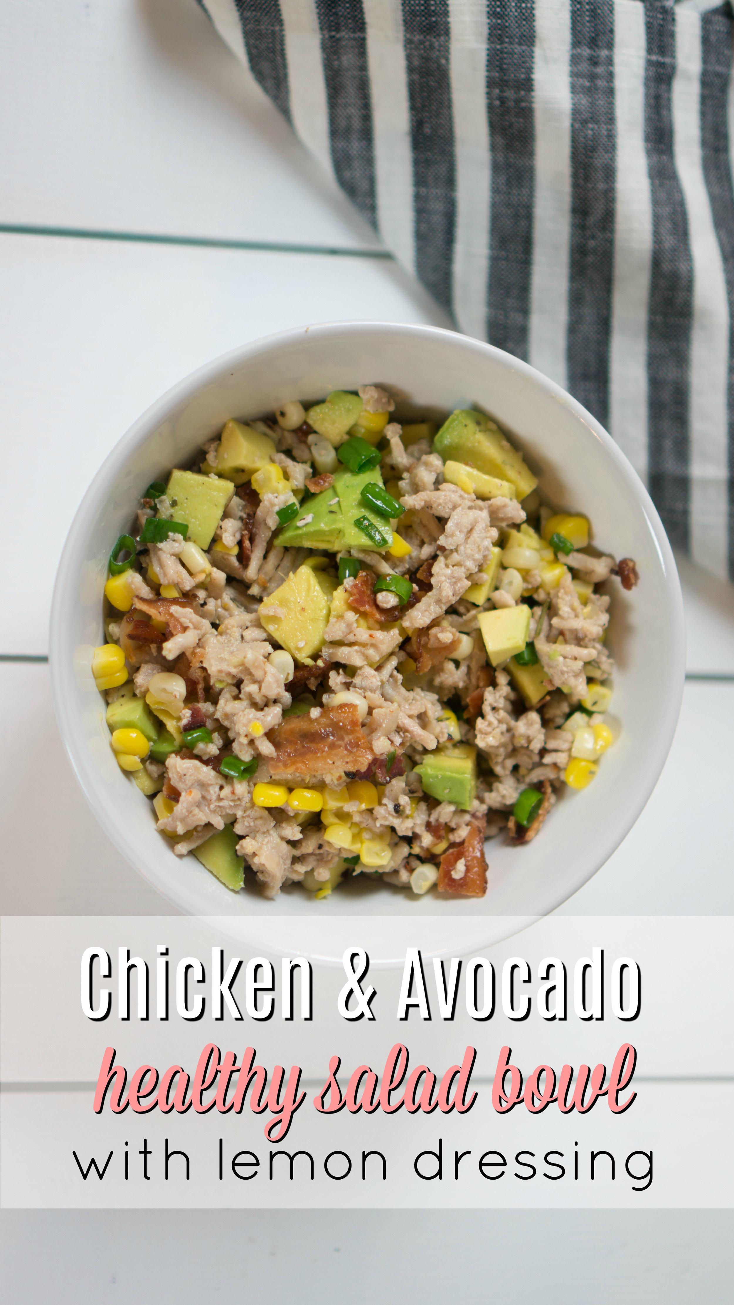 Healthy Chicken & Avocado Salad