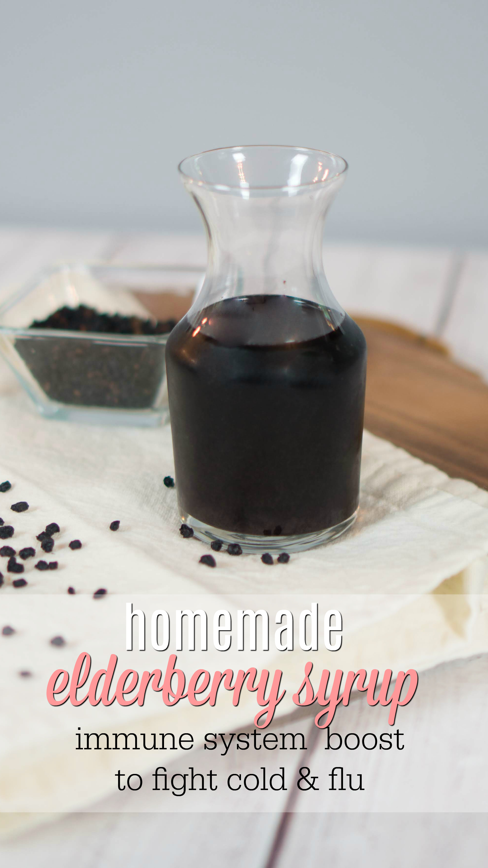Homemade Elderberry Syrup | Immune Support for Cold and Flu