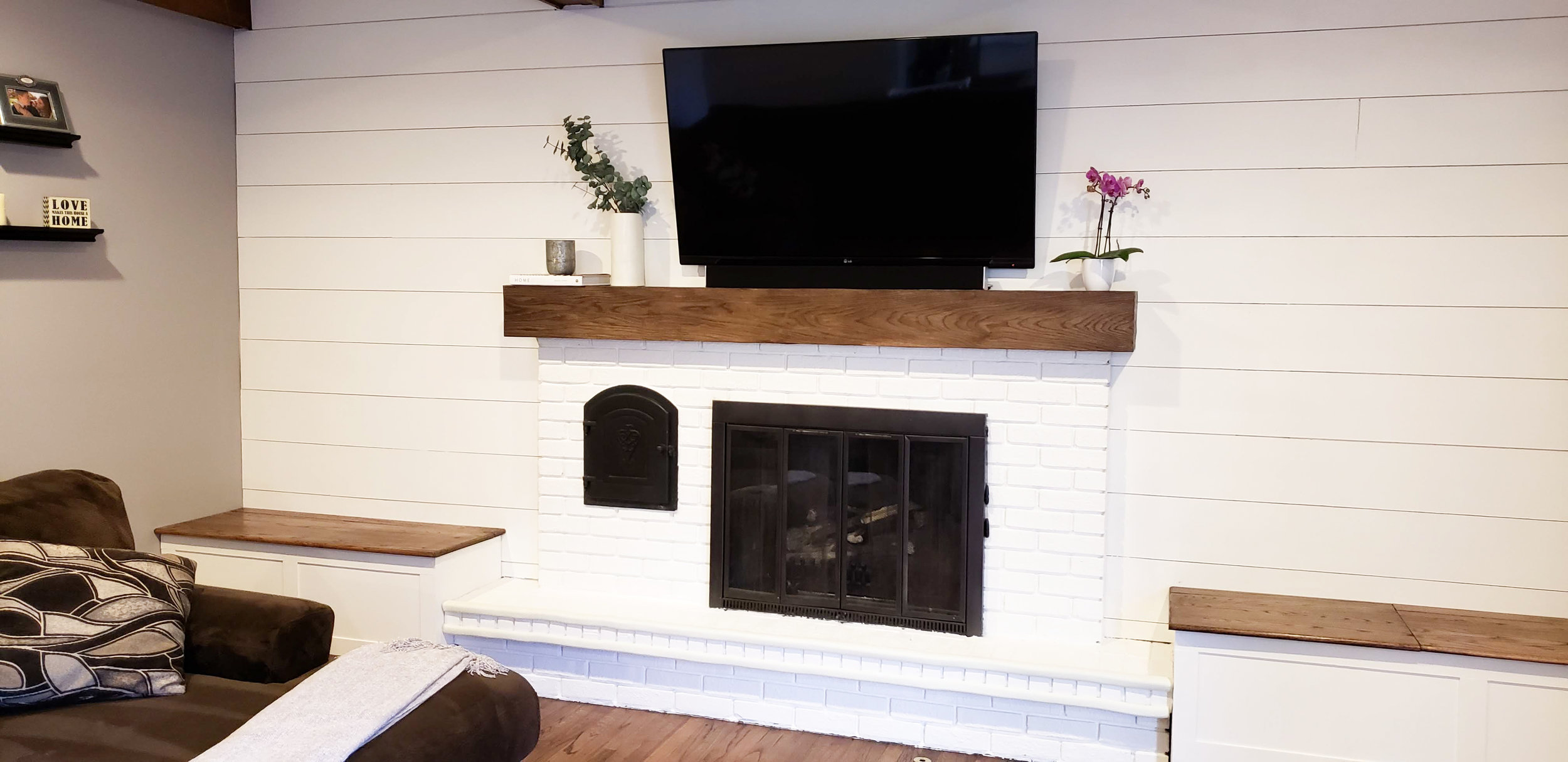 DIY Shiplap Wall | Wood Planked Wall | Fireplace Makeover