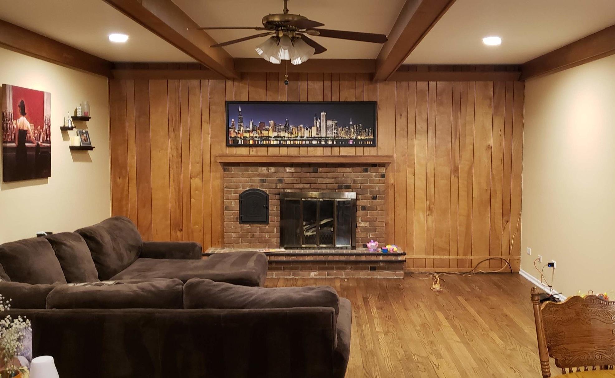DIY Family Room Makeover | DIY Shiplap | Budget Fireplace Renovation