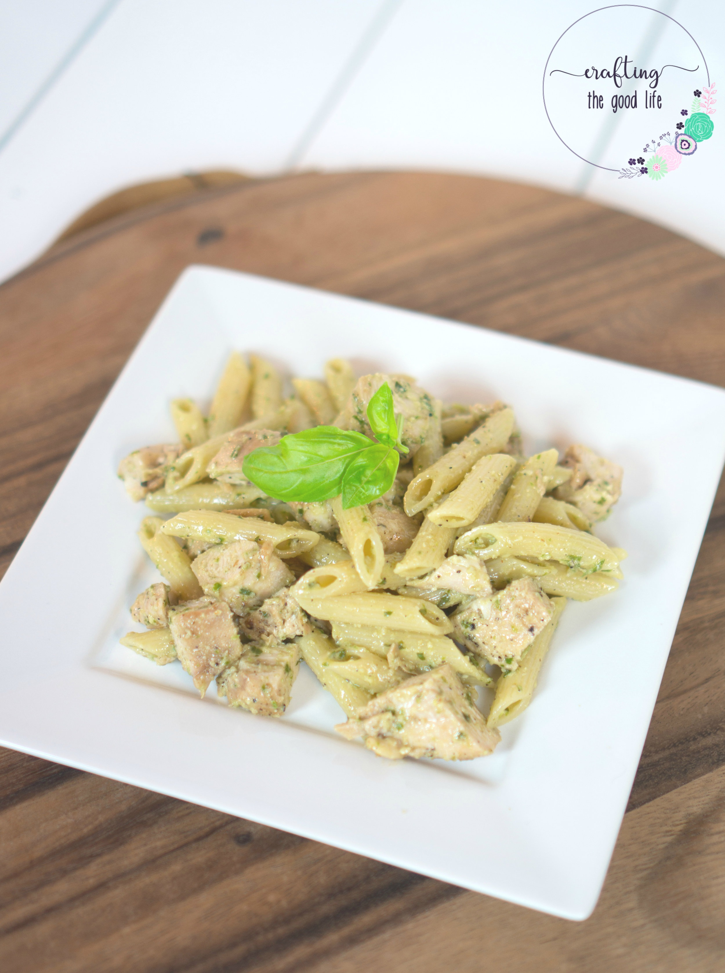 Chicken+Pasta+with+Homemade+Pesto