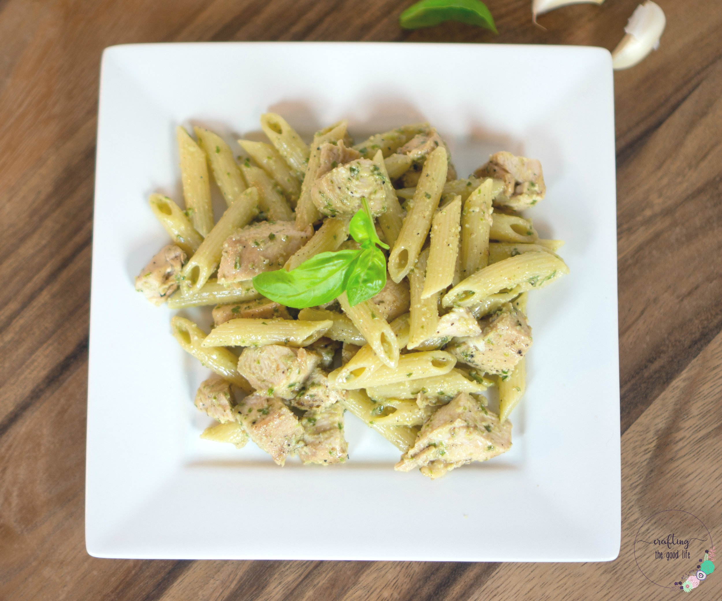 Chicken Pasta with Homemade Pesto