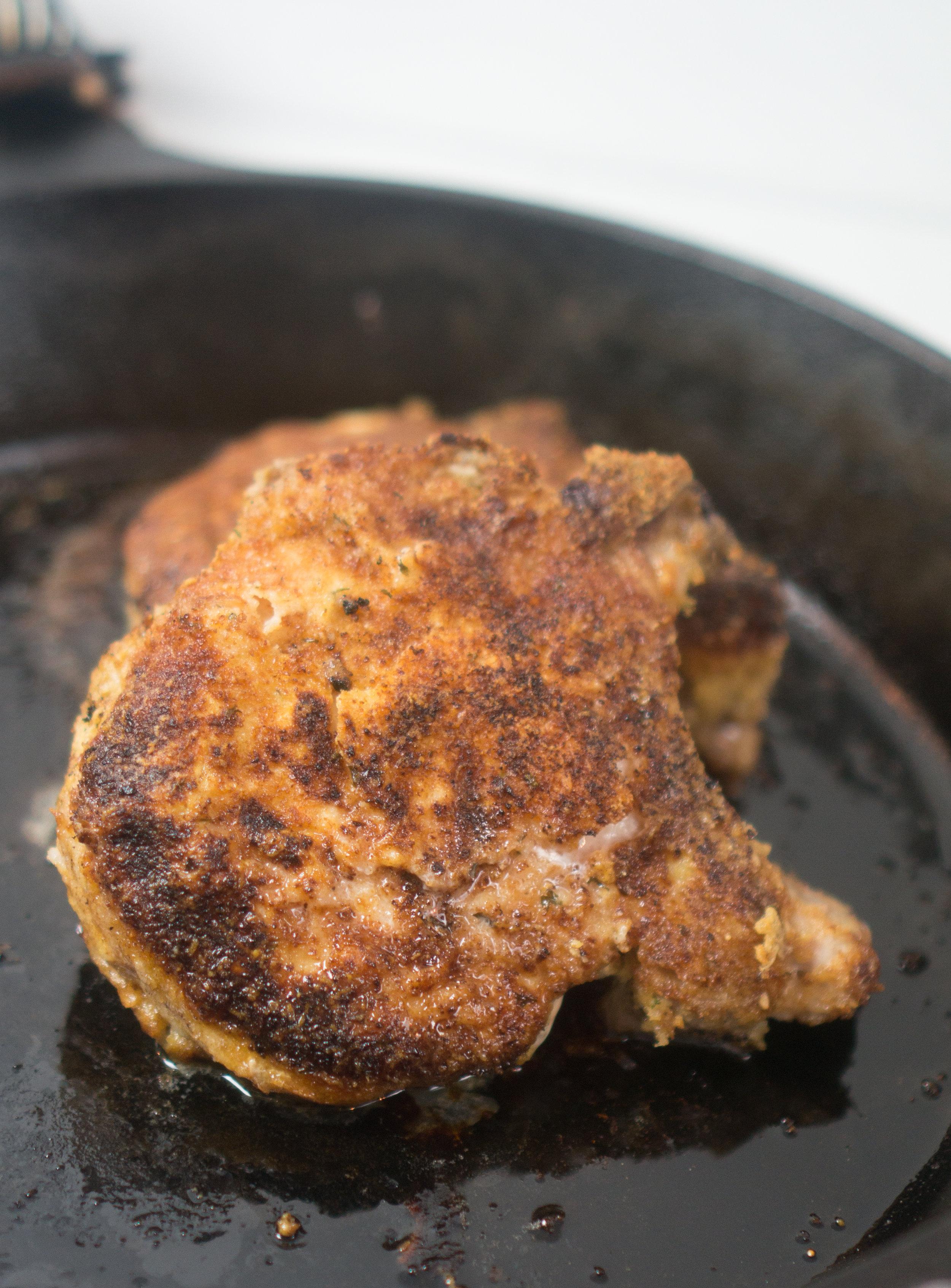 easy cast iron skillet pork chop recipe | Oven Baked Breaded Pork Chops