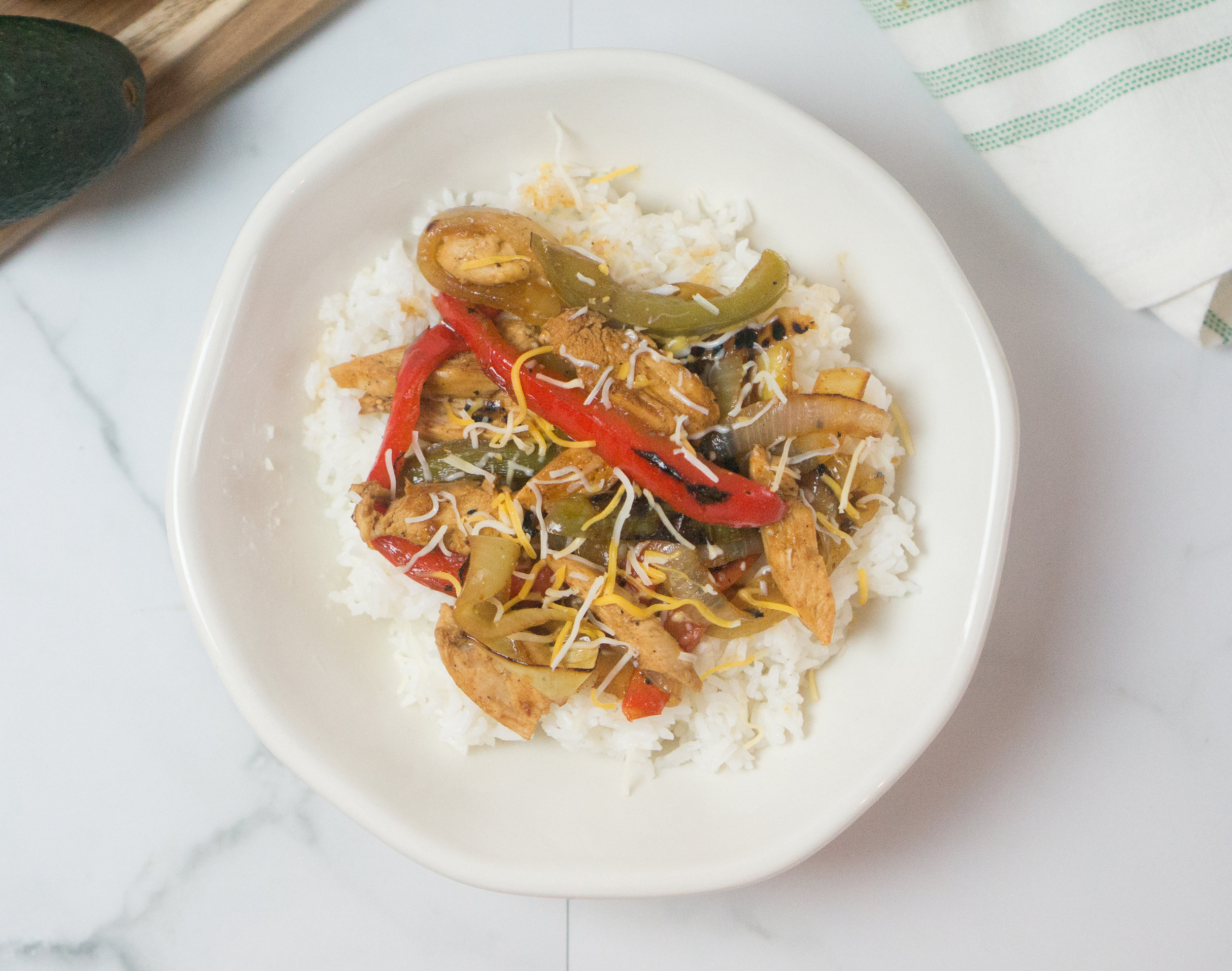 Easy Gluten Free Chicken Fajita Bowl